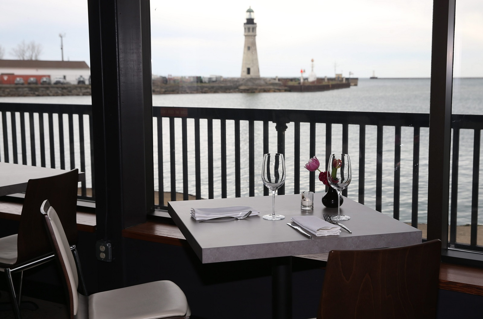 The waterfront view is one of the charms of William K's. (Sharon Cantillon/Buffalo News)