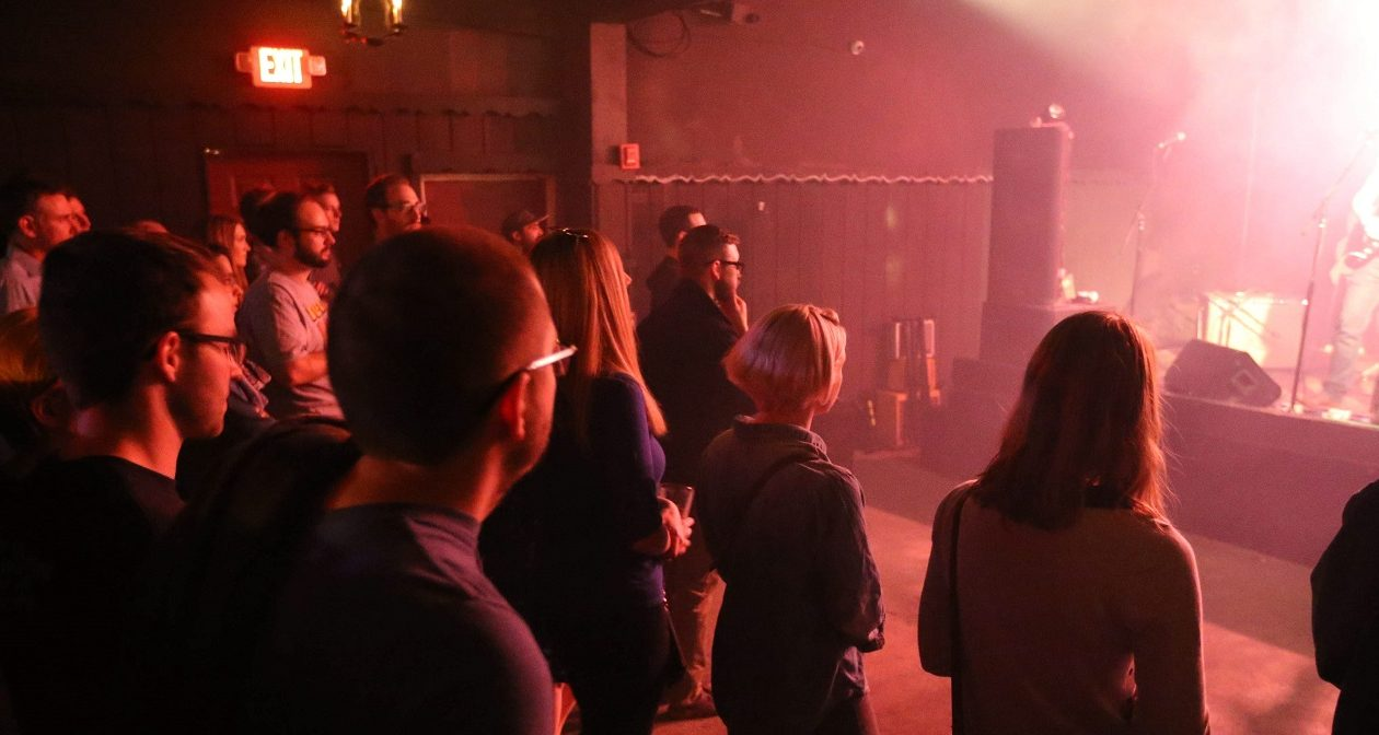 Music fans enjoy a show in Mohawk Place, a popular, small downtown venue. (Sharon Cantillon/Buffalo News)