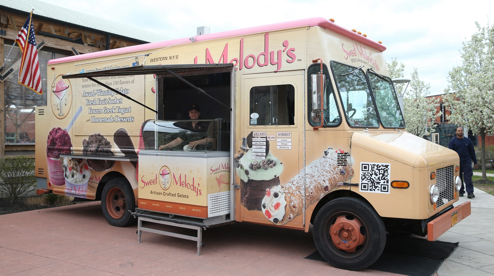 Sweet Melody's now operates two food trucks focused on gelato. (Sharon Cantillon/Buffalo News)