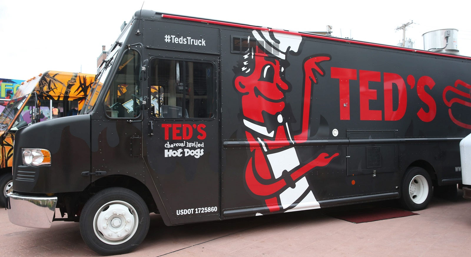 Ted's Truck, the Charcoal Chariot, is an extension of Ted's Hot Dogs. (Sharon Cantillon/Buffalo News)