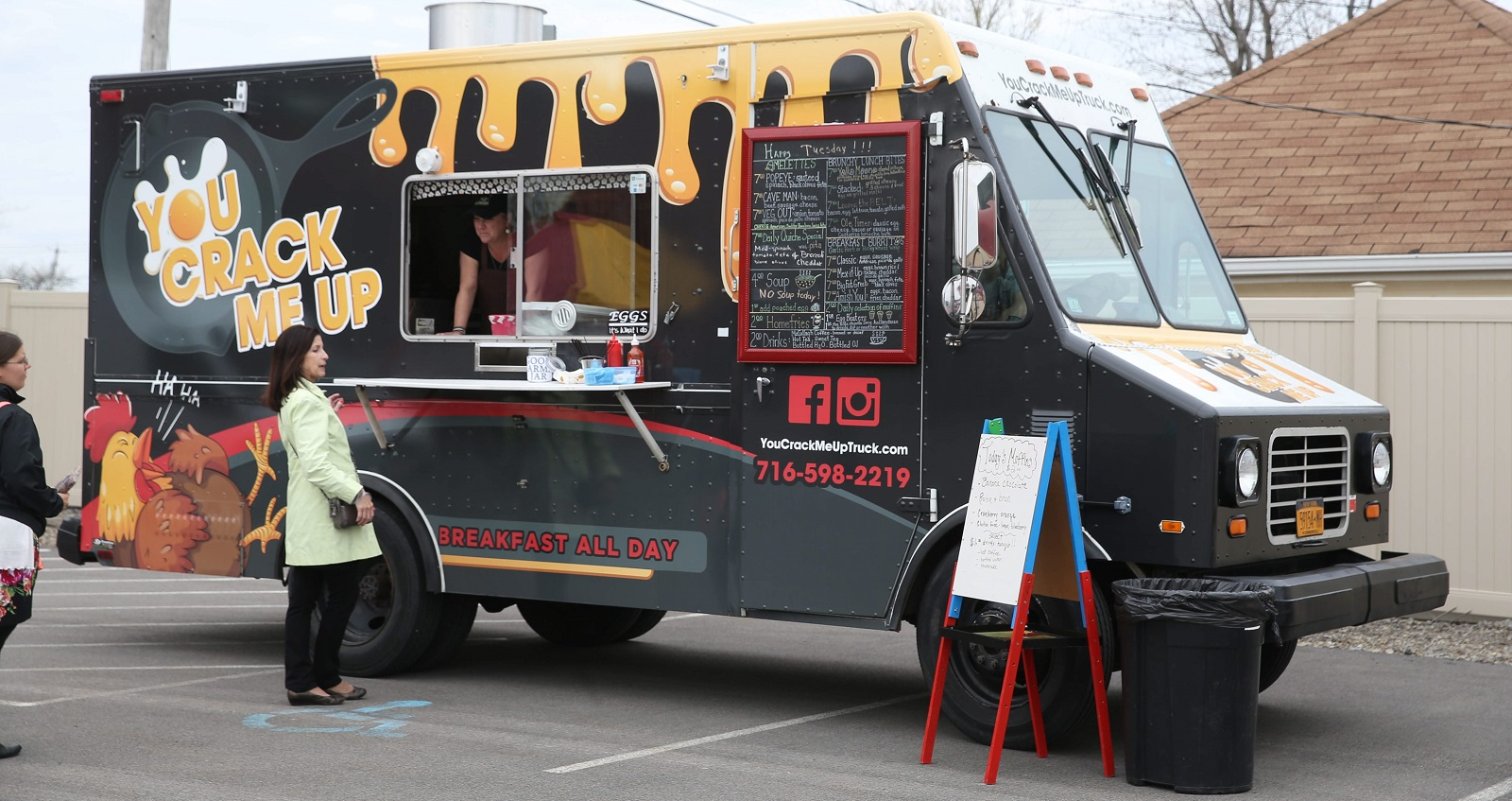 You Crack Me Up sells breakfast food all day; here it's pictured at Food Truck Tuesday in Larkinville. (Sharon Cantillon/Buffalo News)