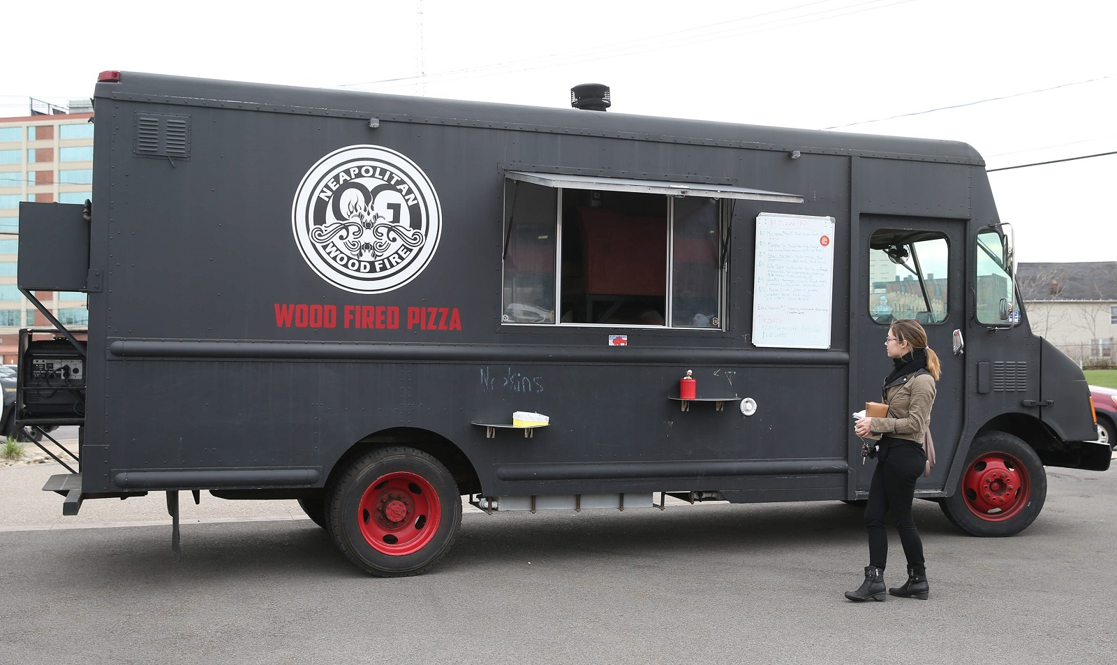 OG Wood Fire parks at Food Truck Tuesdays in Larkin Square. (Sharon Cantillon/Buffalo News)