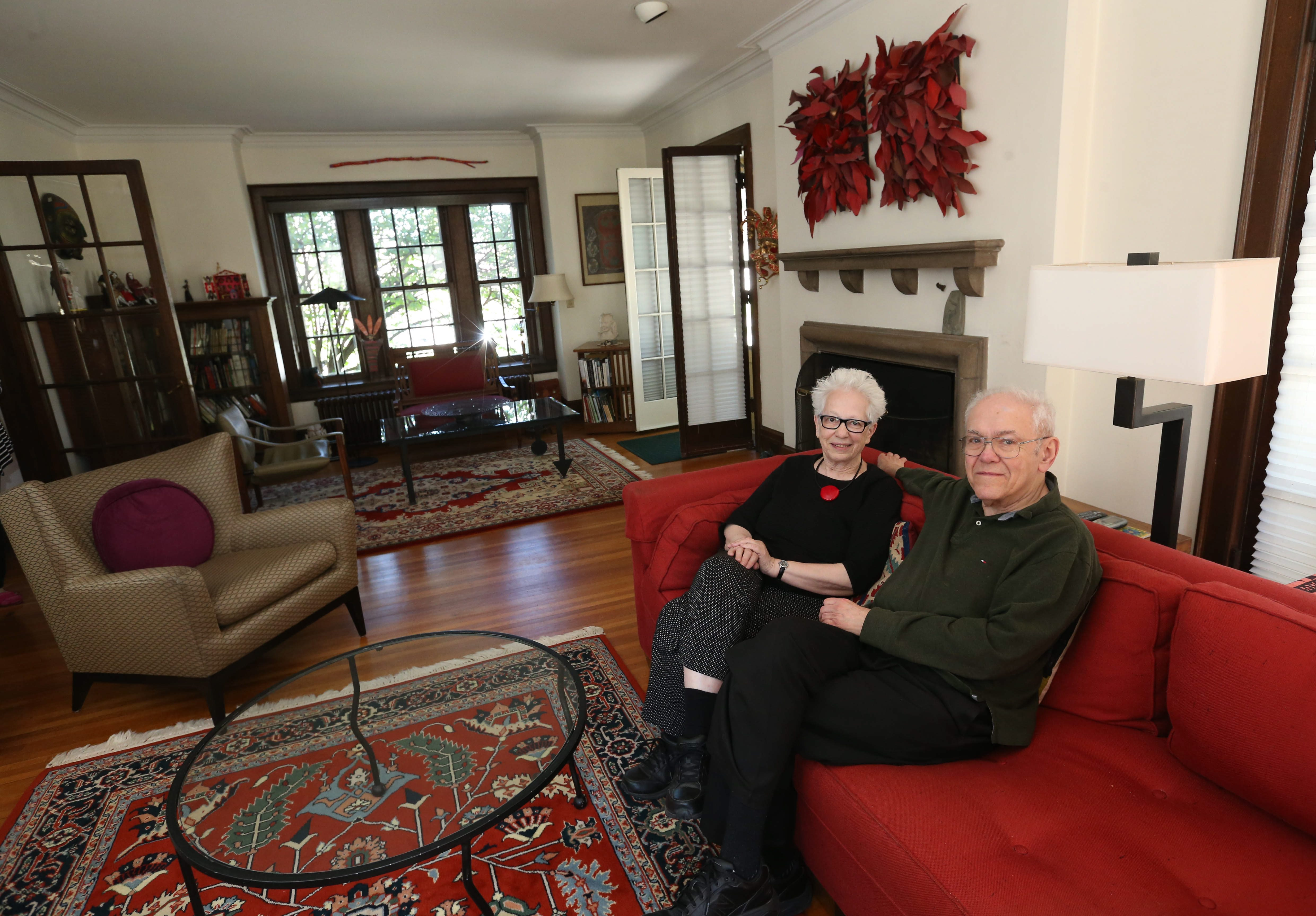 Judy and Alan Duchan will open their Colonial Revival-style home during the Parkside Tour of Homes May 22. (Sharon Cantillon/Buffalo News)