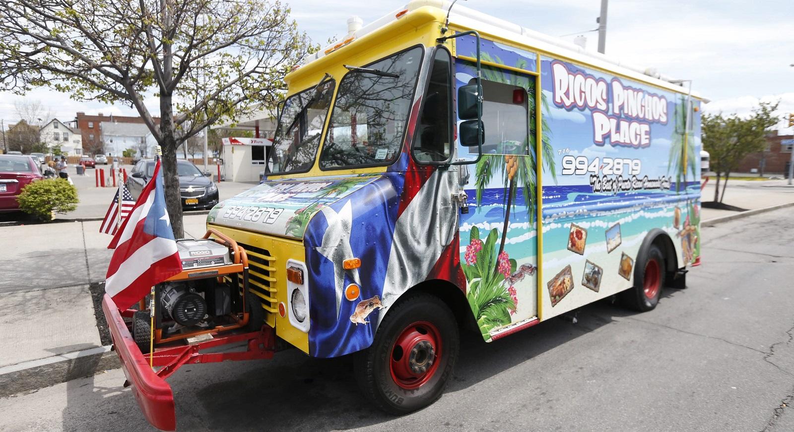Ricos Pinchos Place food truck. (Robert Kirkham/Buffalo News)