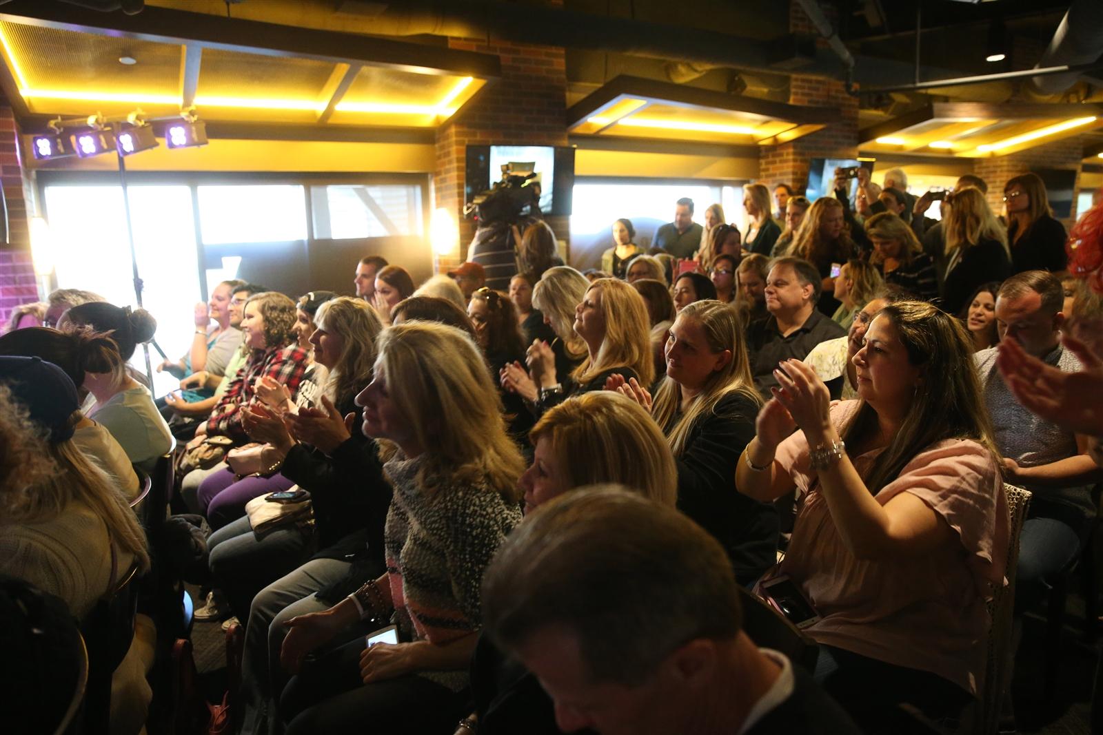Fans get up close to the Goo Goo Dolls at the 716 Monday. (Sharon Cantillon/Buffalo News)
