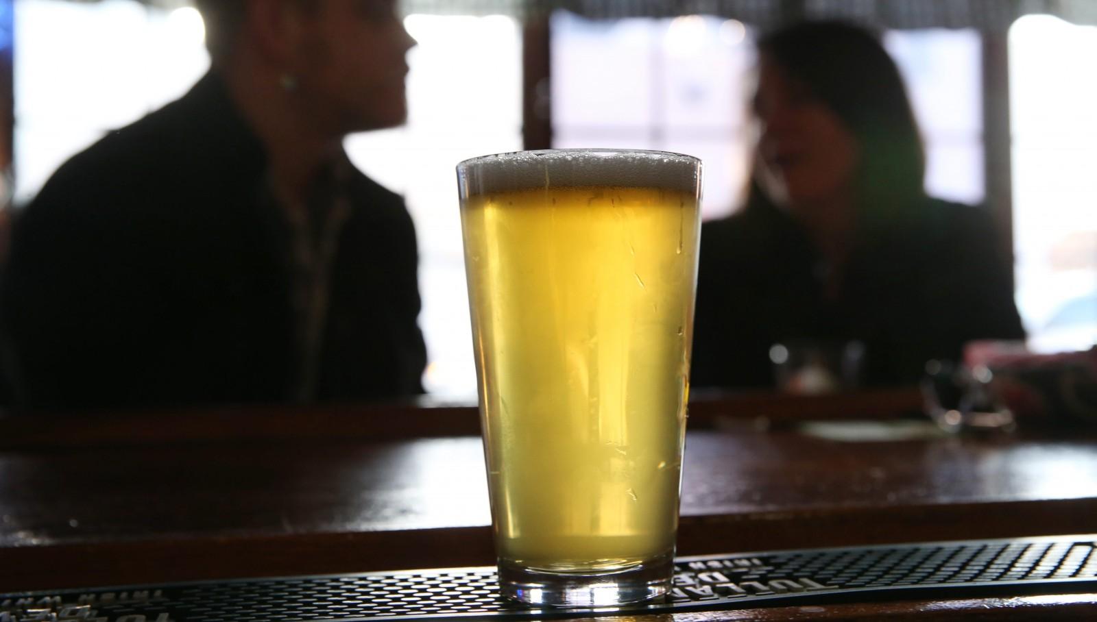 Fat Bob's Smokehouse serves Southern Tier's One Buffalo beer.  (Sharon Cantillon/Buffalo News)
