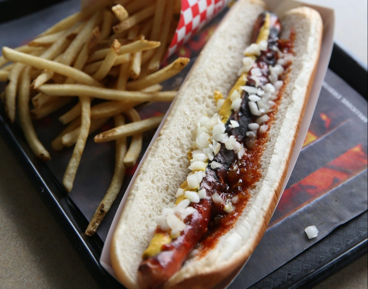 A footlong and fries from the Ted's Hot Dogs at 2312 Sheridan Drive in Tonawanda. A company co-owner has transferred control of the restaurant to his daughter.  (Sharon Cantillon/Buffalo News file photo)