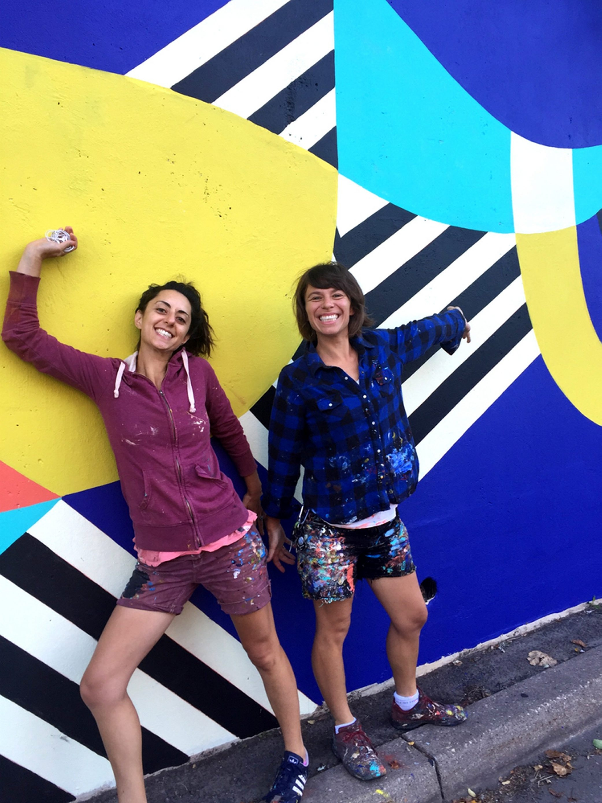 Baltimore-based artists Jessie Unterhalter and Katey Truhn will create a new piece on the north side of 710 Main Theatre.
