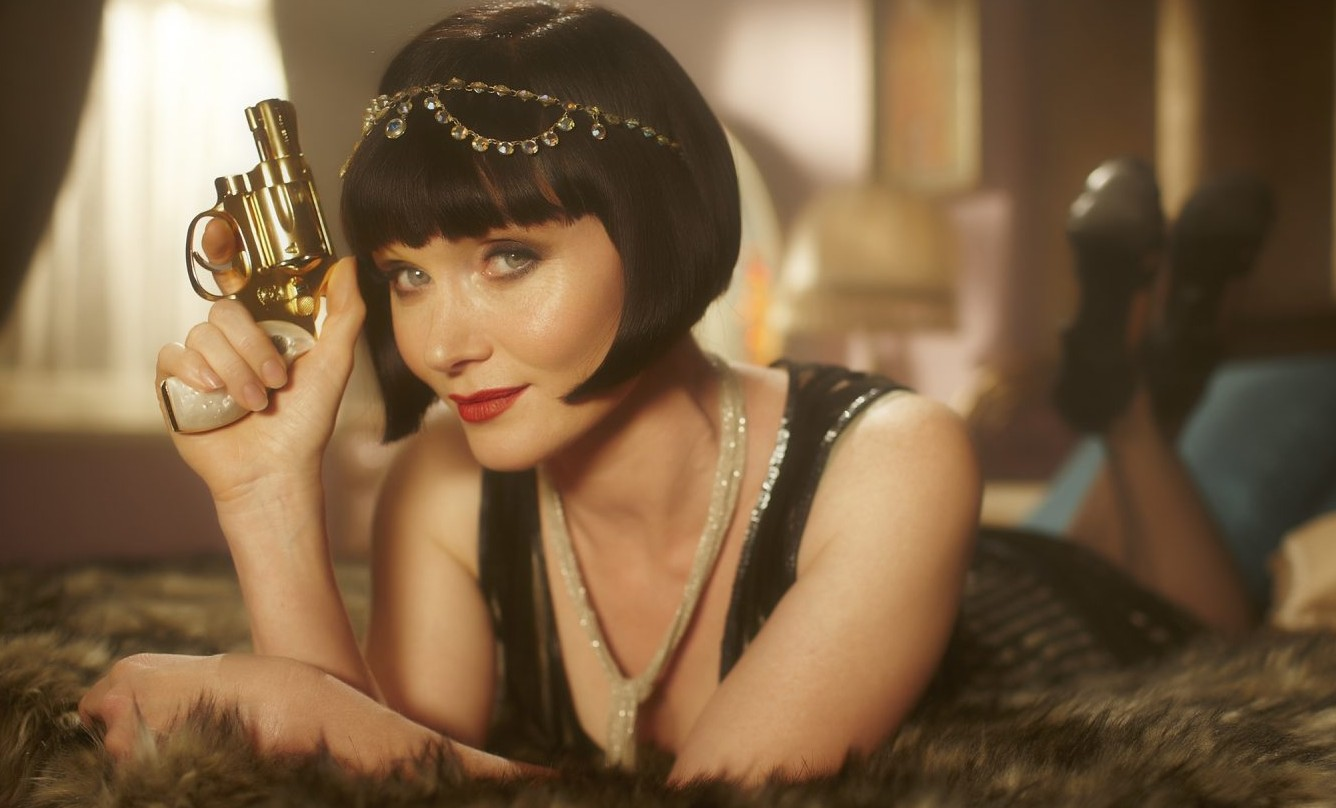 Essie Davis plays Phryne Fisher, an heiress who solves murders in 1920s Australia.