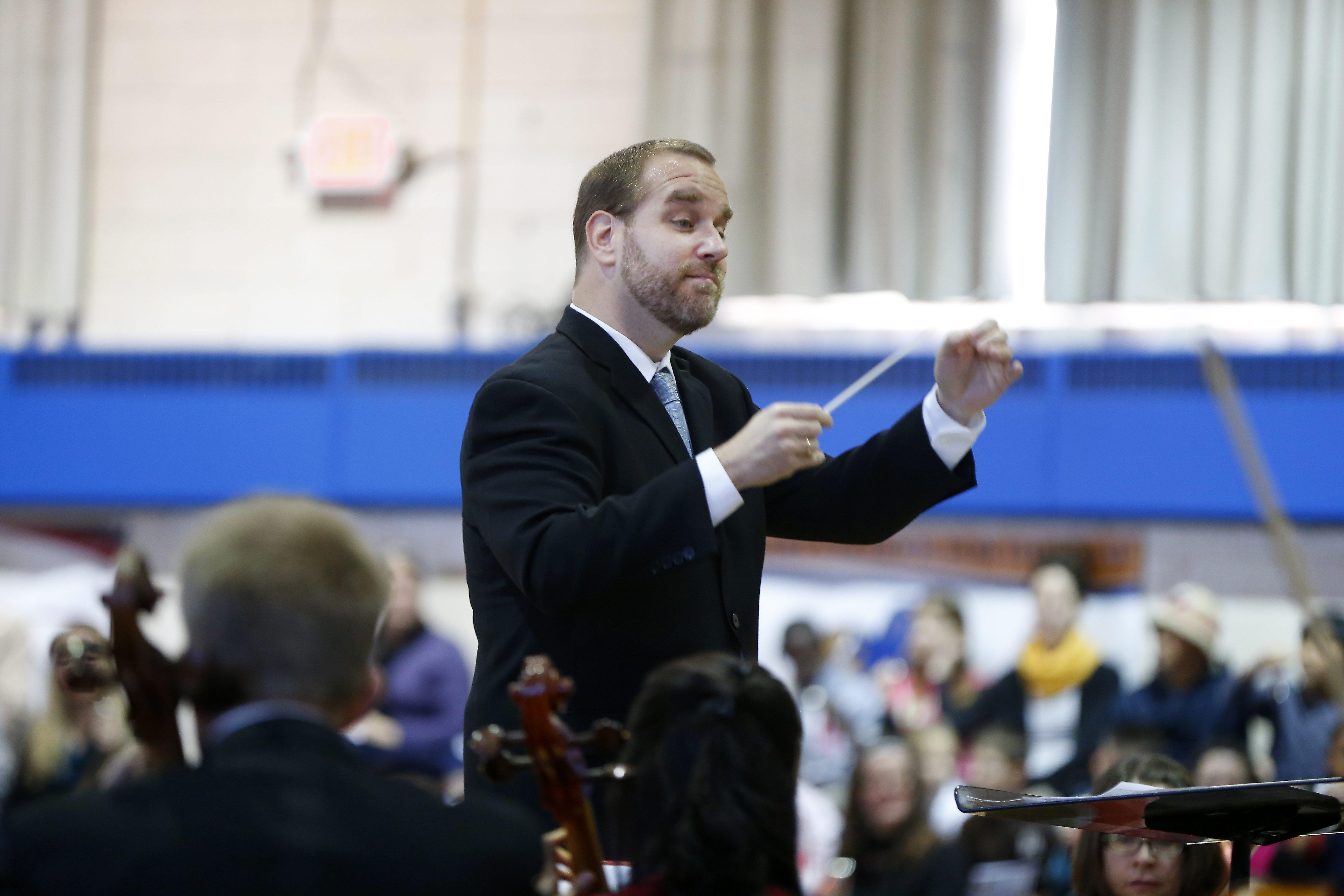 "Associate Conductor Stefan Sanders will lead the BPO in ""Star-Spangled Pops."" (Mark Mulville/Buffalo News file photo)"