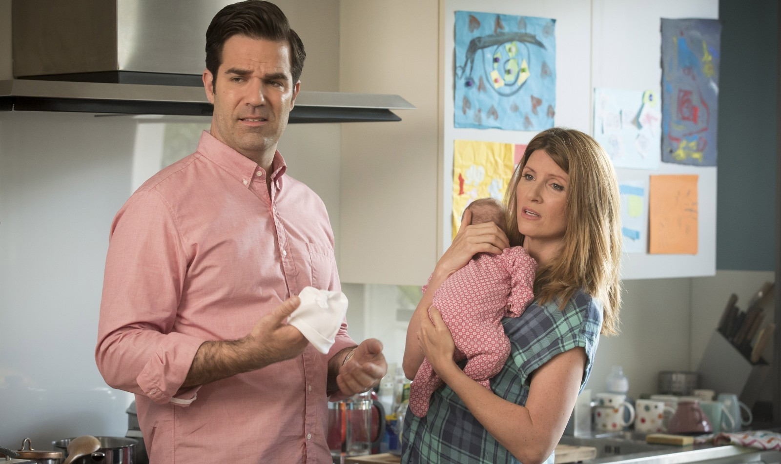 "Rob Delaney and Sharon Horgan have a marriage of inconvenience in ""Catastrophe."""