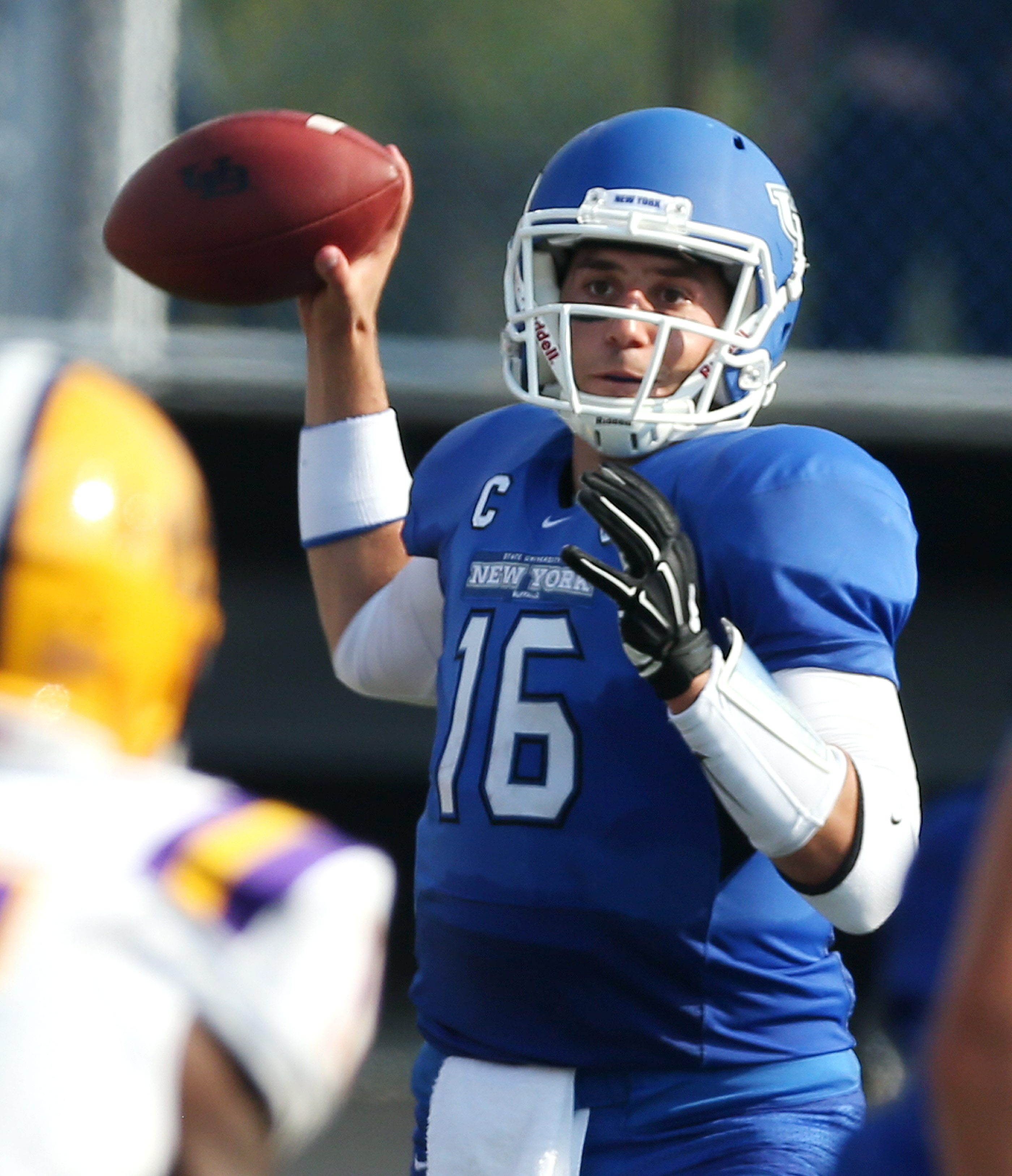 The Bills are bringing in UB quarterback Joe Licata to throw passes, on a tryout basis, during rookie minicamp.