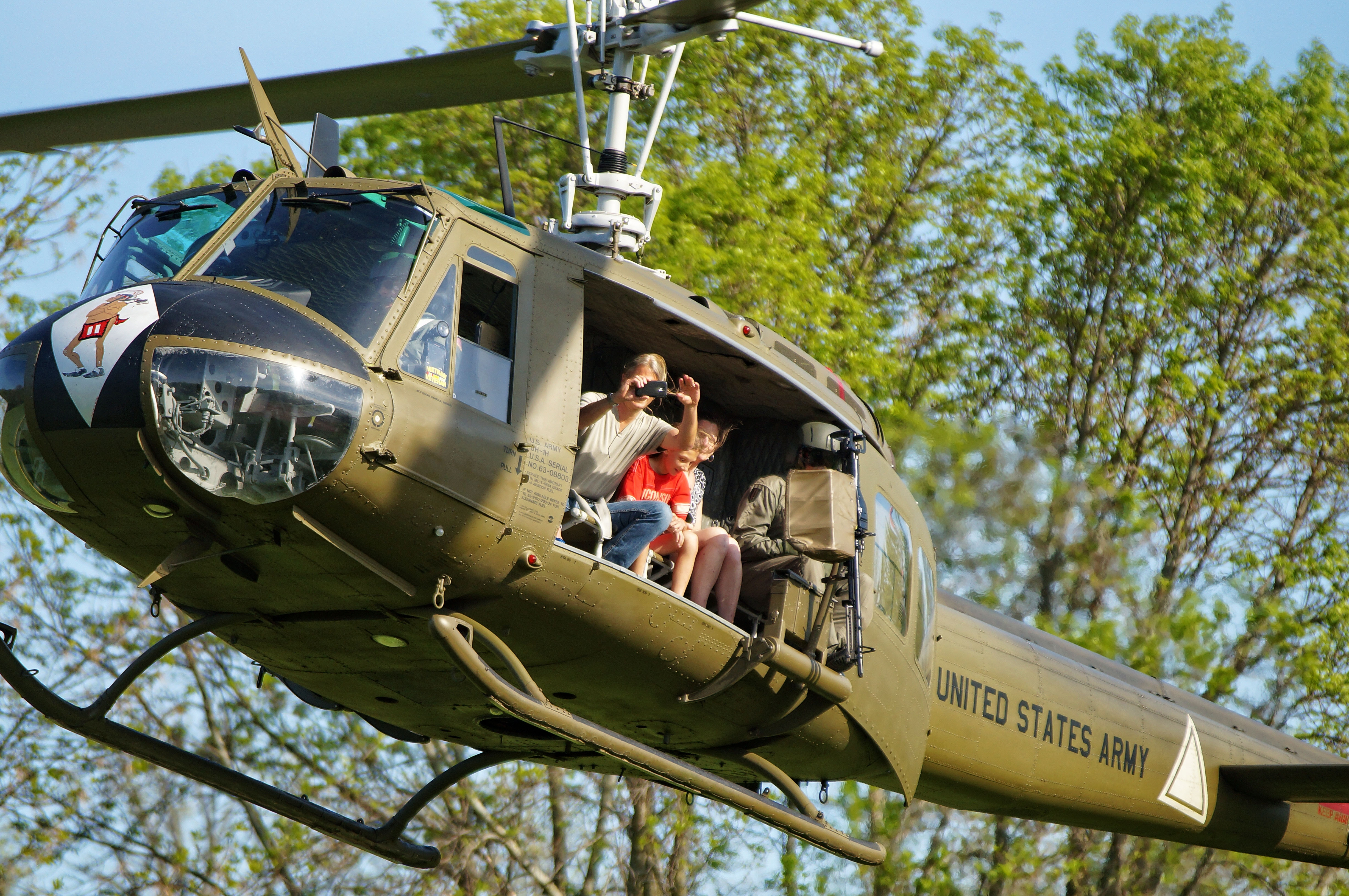 Become a member of the American Huey 369 organization and get a chance to join an open-door flight on the historic copter during Memorial Day observances at Fort Niagara.