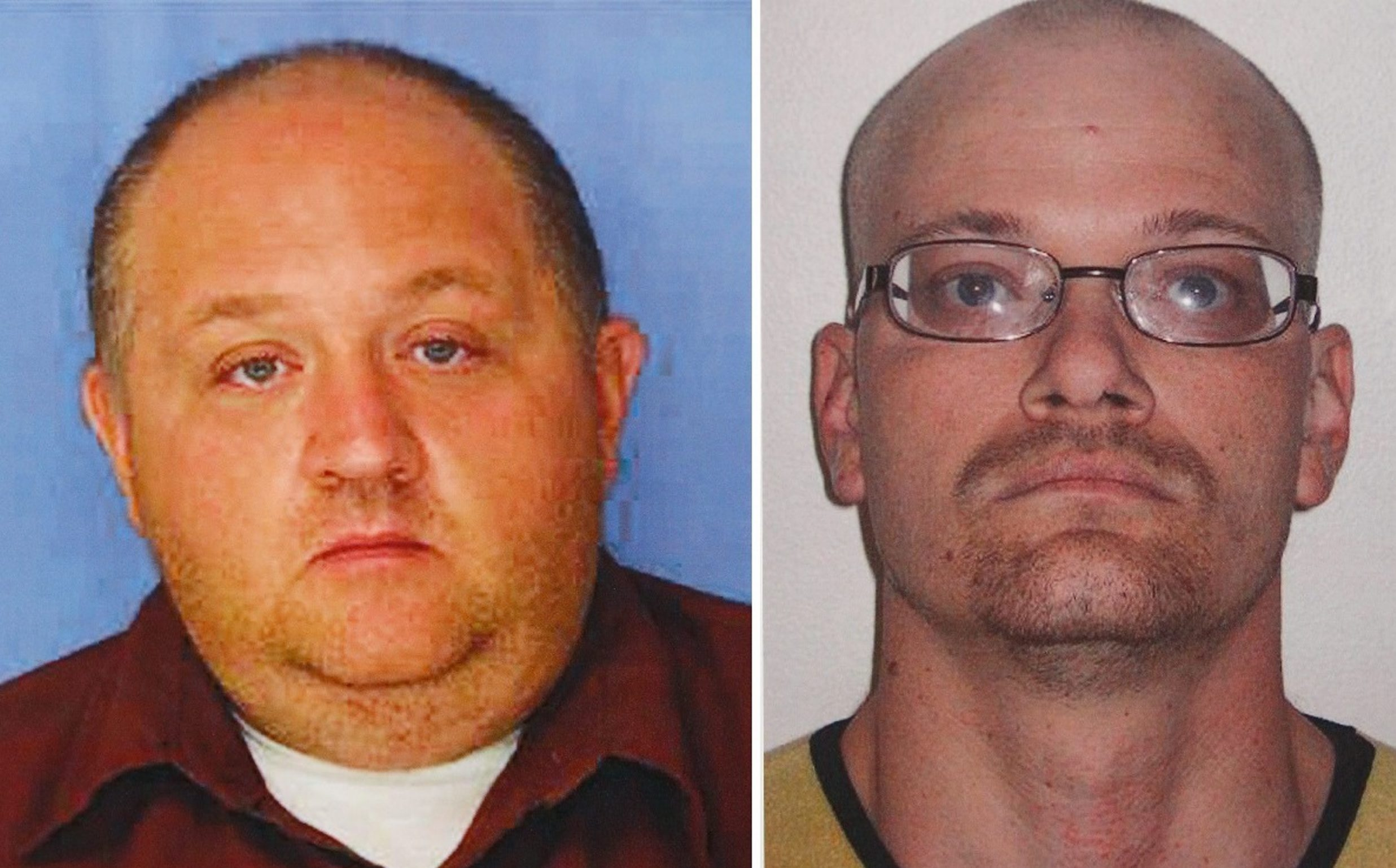 Jonathan Conklin, left, and Charles Sanford killed violinist Mary Whitaker in August 2014 in a failed burglary at her summer home.