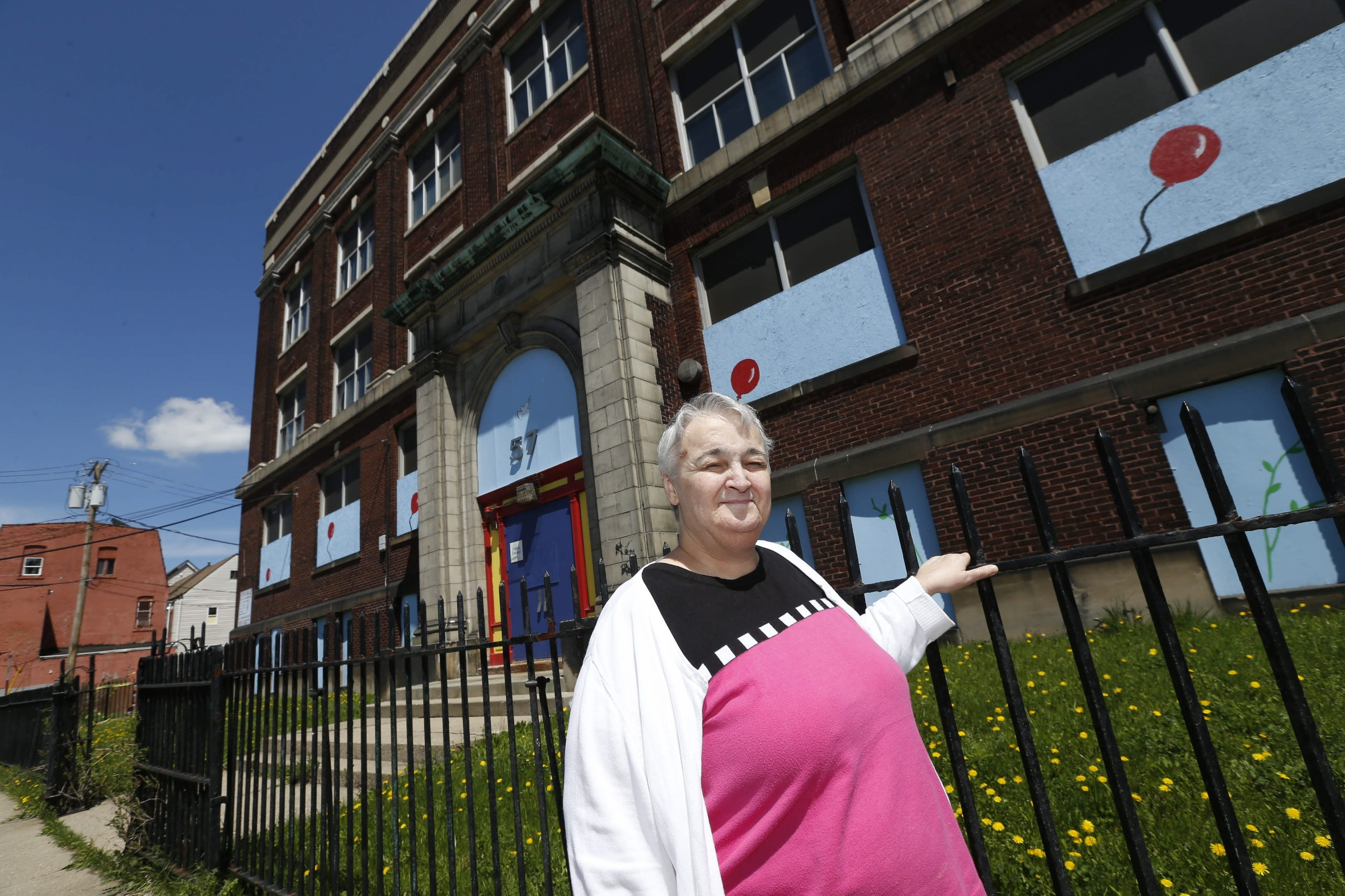 Marlies Wesolowski of the Matt Urban Center hopes to turn the former School 57 on Sears Street into a multipurpose site serving the poor in the neighborhood.  (Robert Kirkham/Buffalo News)