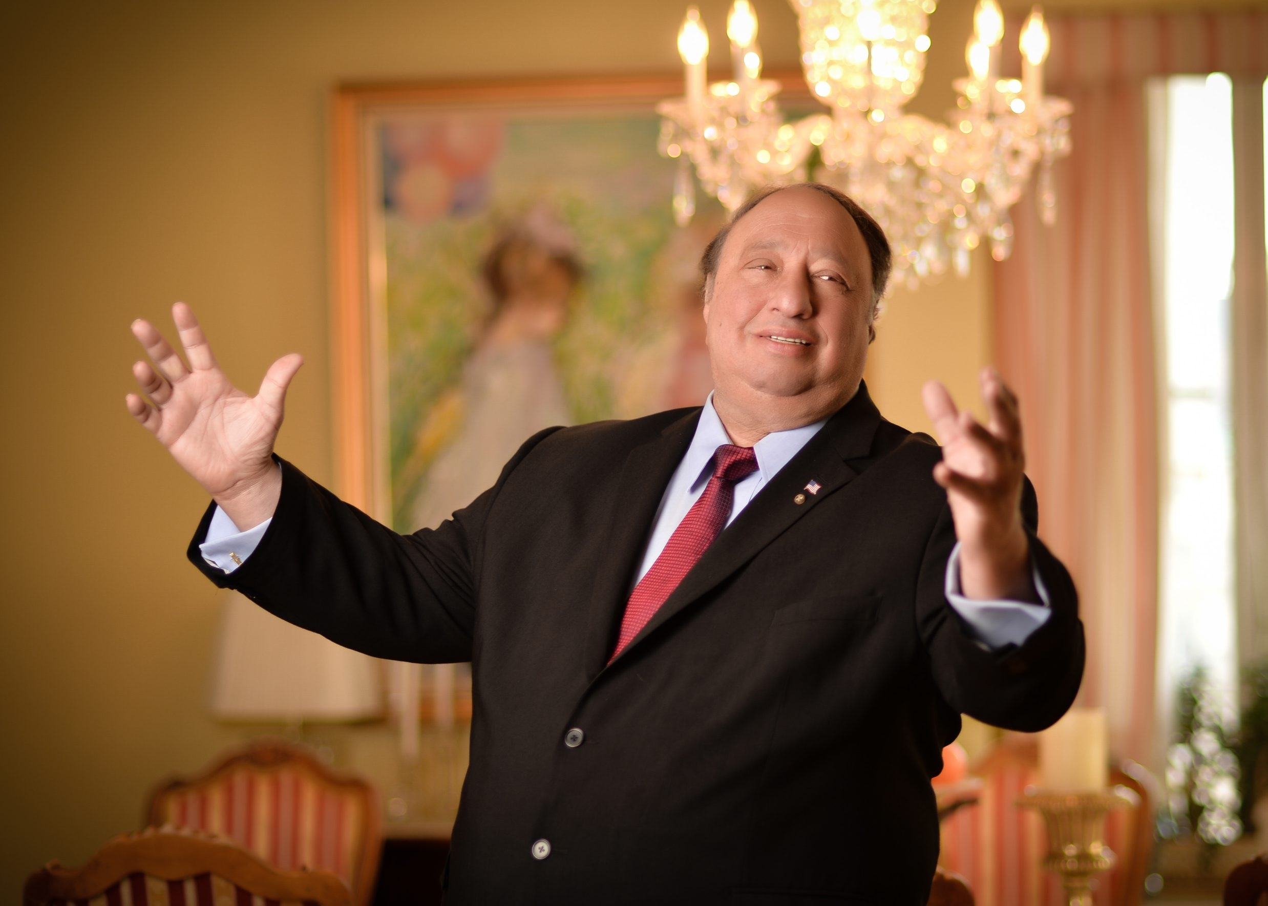 John Catsimatidis, a self-made billionaire who will be speaking at Daemen College on Monday, poses at his home in New York City.