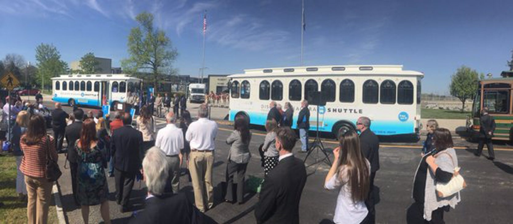 New tourist trolley in Niagara Falls will travel a 14-mile route. (John Hickey/Buffalo News)