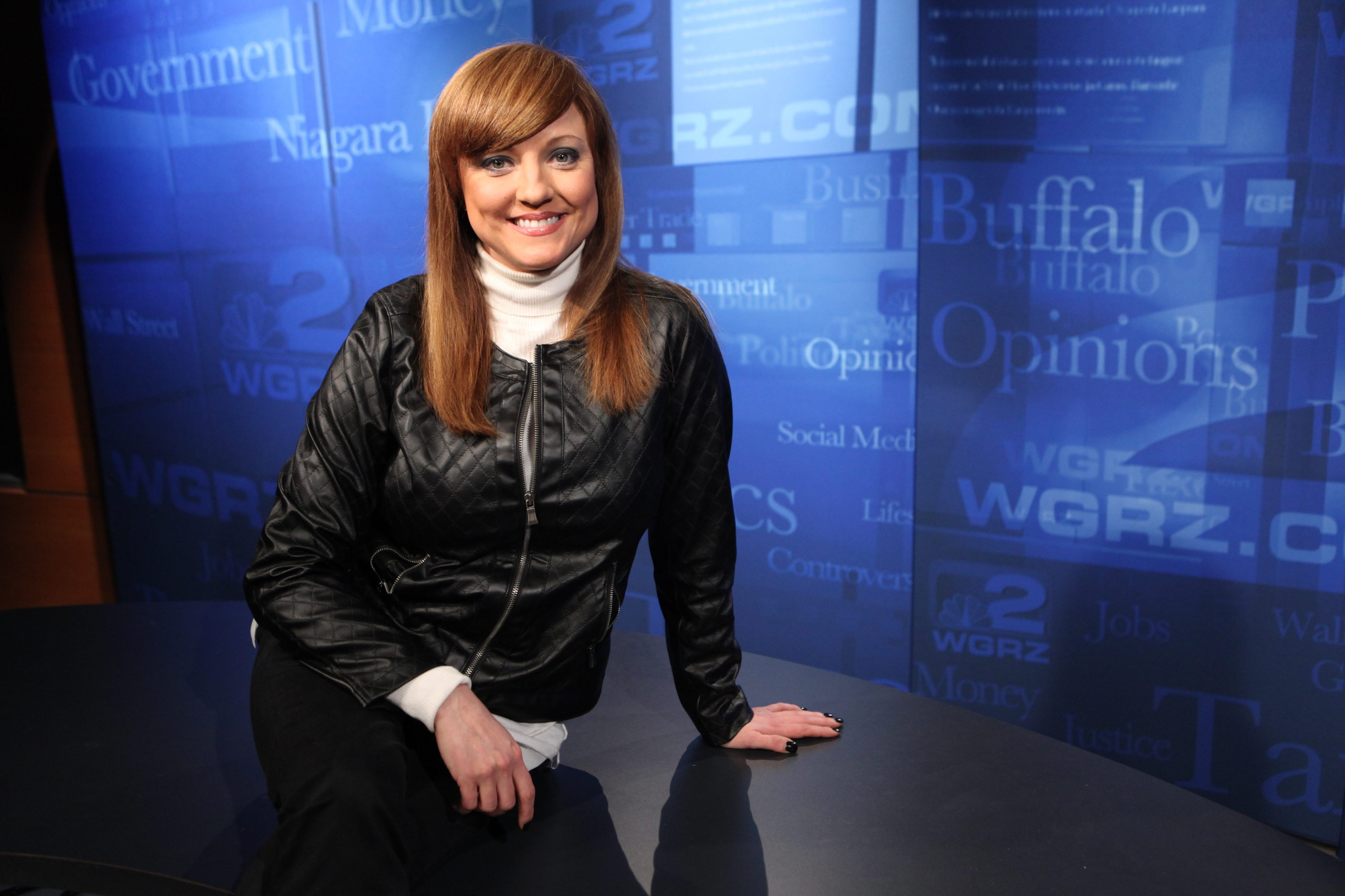 Kristy Mazurek, photographed in 2012 on WGRZ set for show '2 Sides,' is expected to run for Angela Wozniak's Assembly seat. (Sharon Cantillon / Buffalo News)