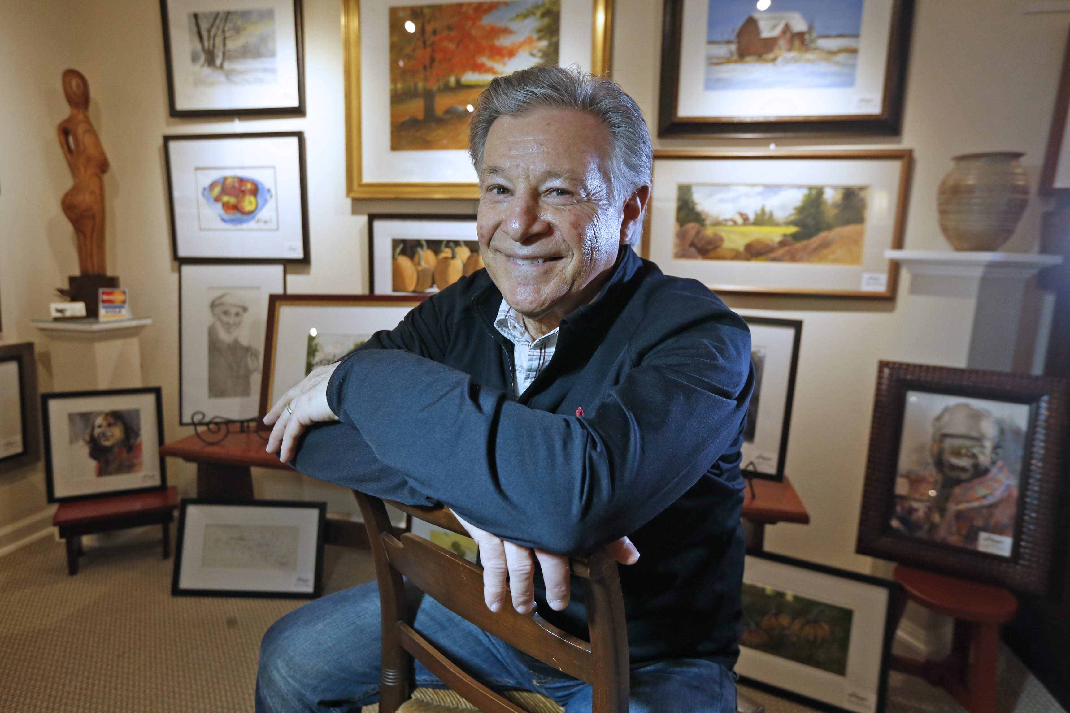 Jack DiMaggio, an artist and retired art teacher, has a gallery in his Lockport home. He'll speak about his art work on Monday evening in the Lockport Public Library.