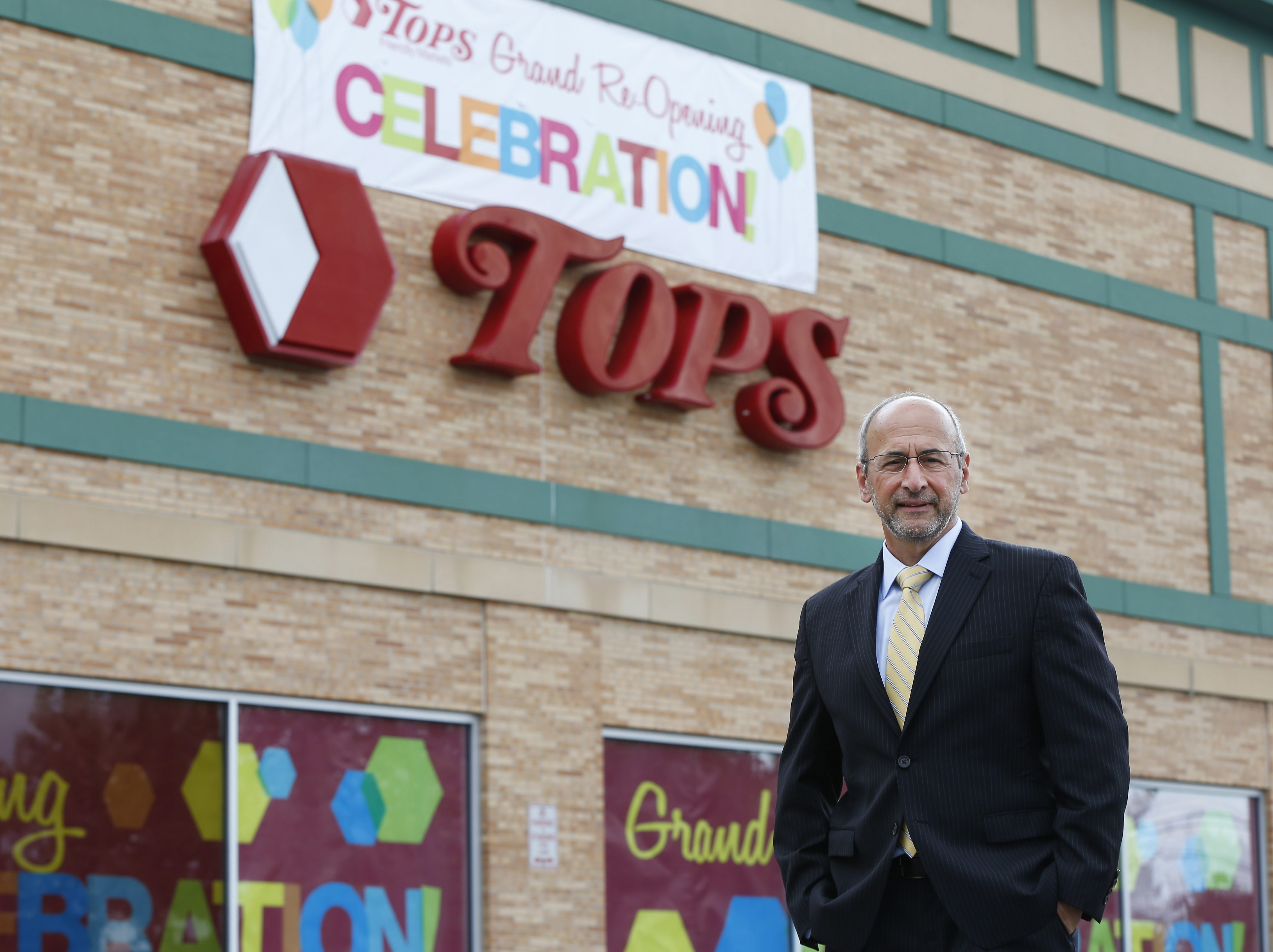 Tops President and Owner Frank Curci at the newly renovated East Aurora store Thursday, July 23, 2015.    (Mark Mulville/Buffalo News)
