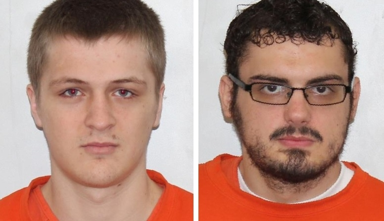 Justin M. Learn, 19, and Ryan R. Mitchell, 24, both of Scio, face five felony burglary charges. (State Police)