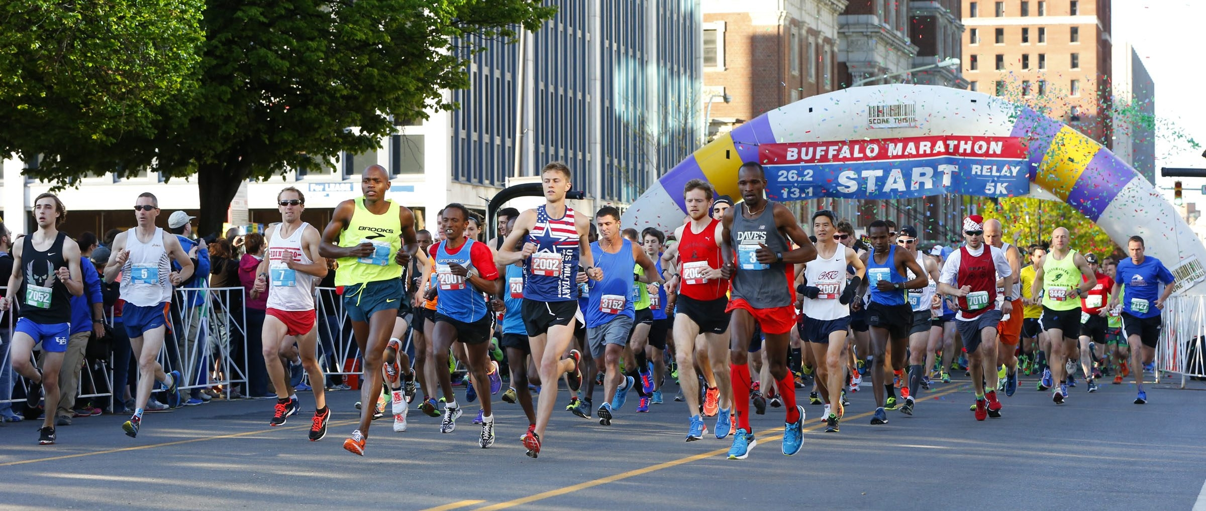 Runners participate in the 2015 Buffalo Marathon.(Harry Scull Jr./Buffalo News)