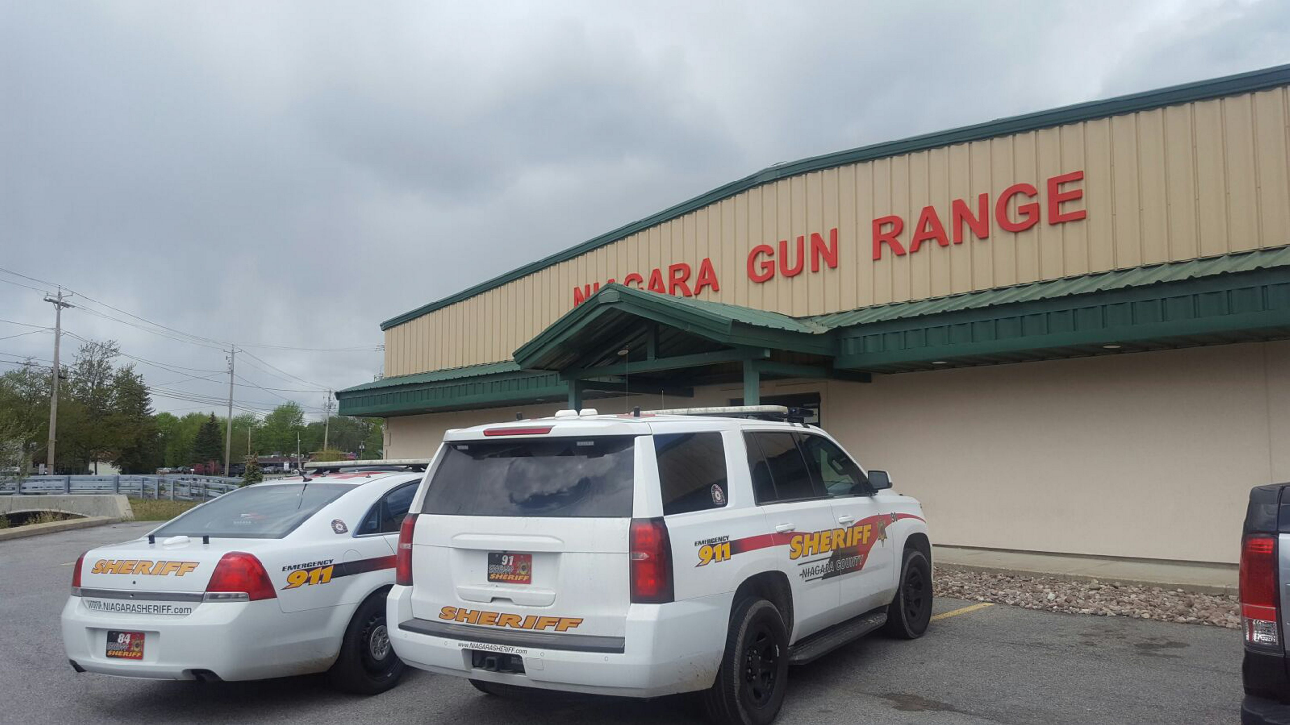 The scene at the Niagara Gun Range on Sunday. (Michelle Kearns/Buffalo News)