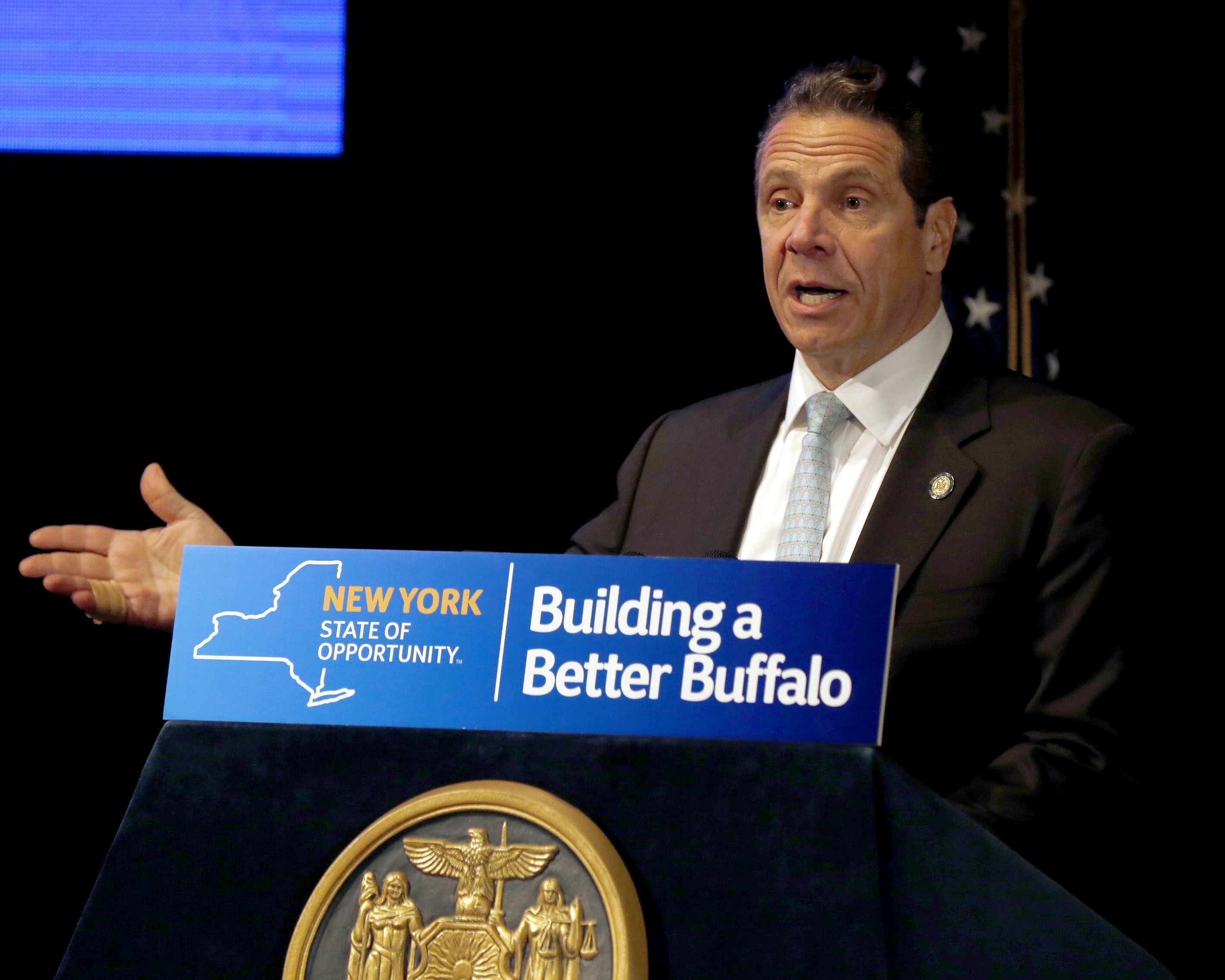 Gov. Andrew M. Cuomo said Tuesday that he has not been questioned by federal prosecutors in their widening probe of his signature Buffalo Billion economic-development program. (News file photo)