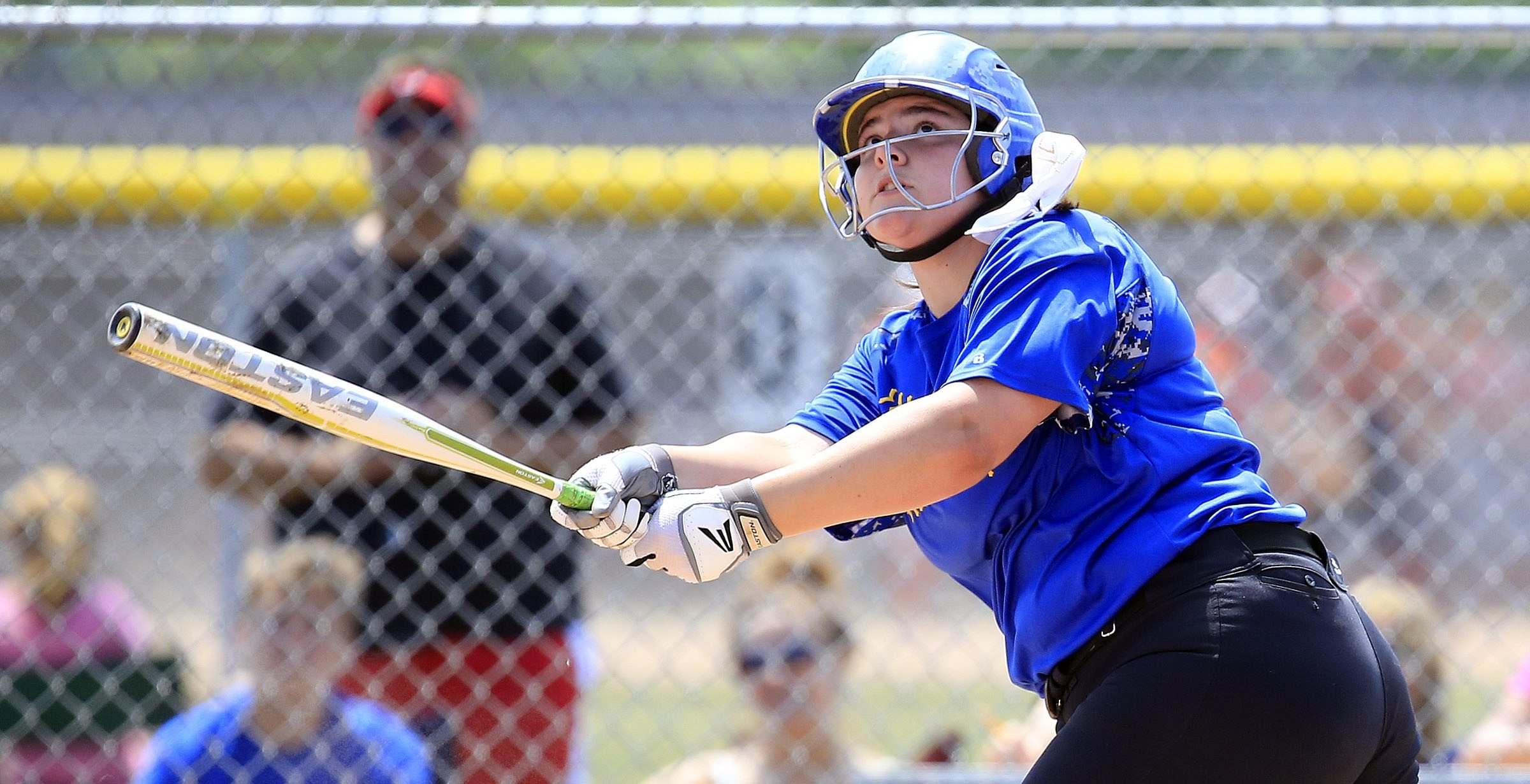 Alden's Laura Kratzke hits a solo home run against Fredonia during the Section VI softball finals at Niagara Wheatfield High School last May.