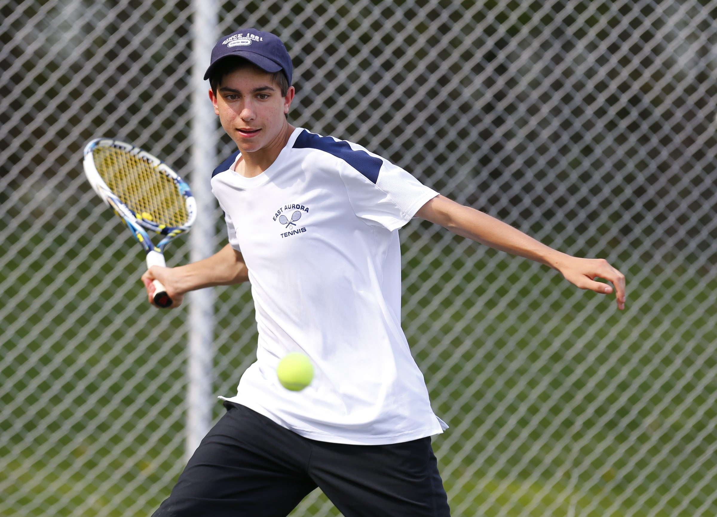 Jack McClaren is back on the courts for East Aurora as the returning Section VI champion and has helped the Blue Devils to a 7-1 record this year.