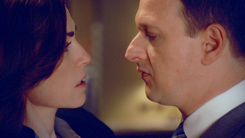 "Julianna Margulies as Alica Florrick and Josh Charles as the late Will Gardner in the series finale of ""The Good Wife"" on CBS."