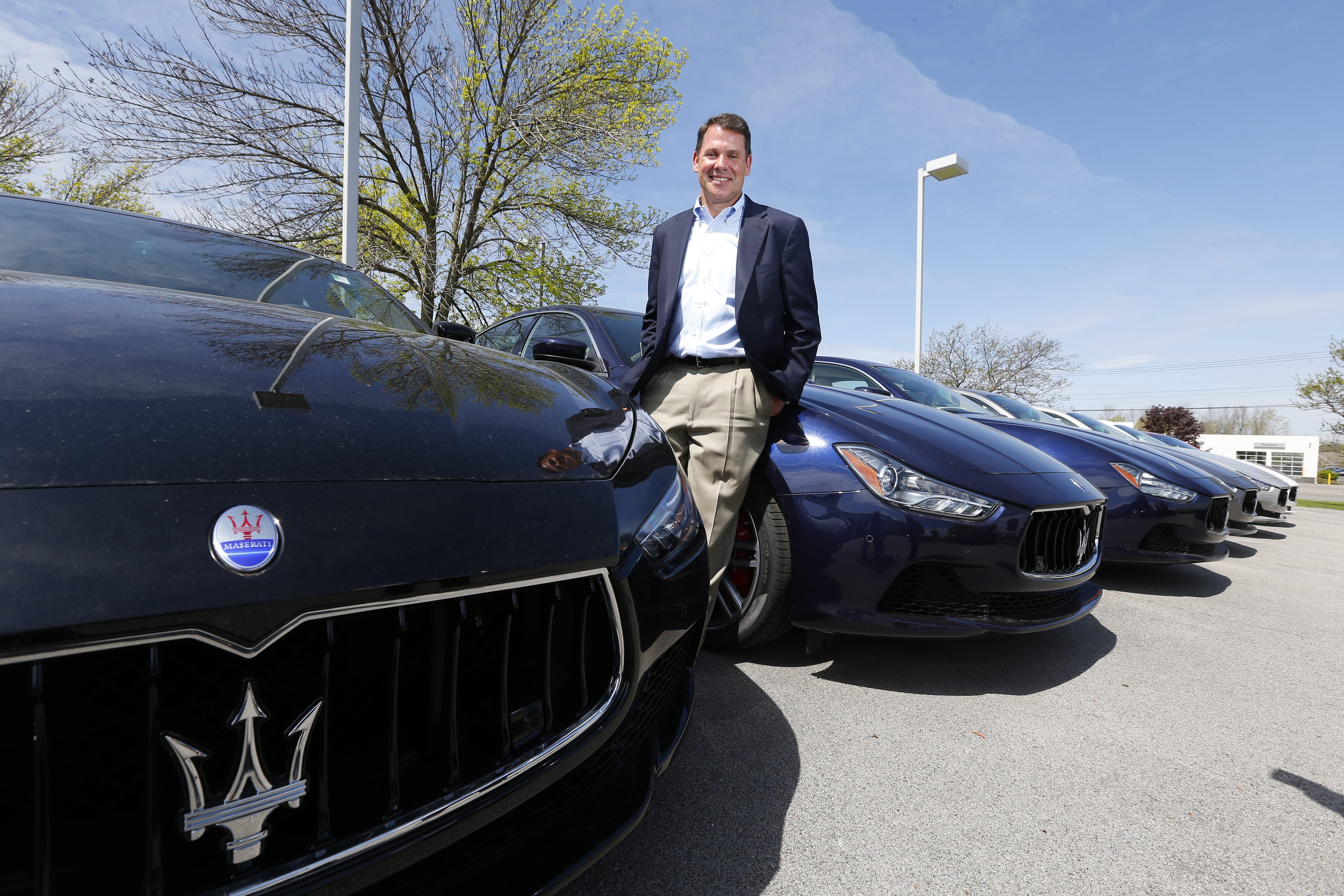 "Towne Automotive's president Frank Downing Jr. calls his company's plans for a Maserati/Alfa Romeo dealership ""a leap of faith."" (Mark Mulville/Buffalo News)"