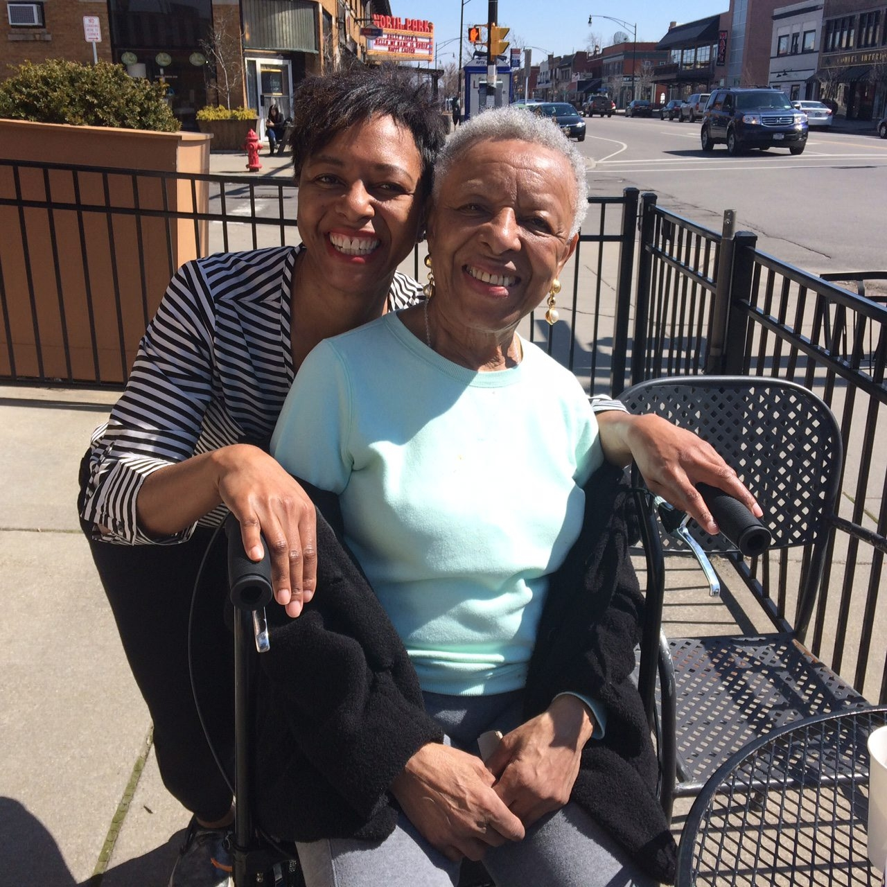 """""""When my mother left the house, she made sure she looked good and felt good ... She had kids and she loved them, but it wasn't her life ... My mother's parenting, so-called 'expertise,' was pretty much five words, 'Don't make me hurt you.'"""" – Ylonda Gault, left, with her mother, Essie"""