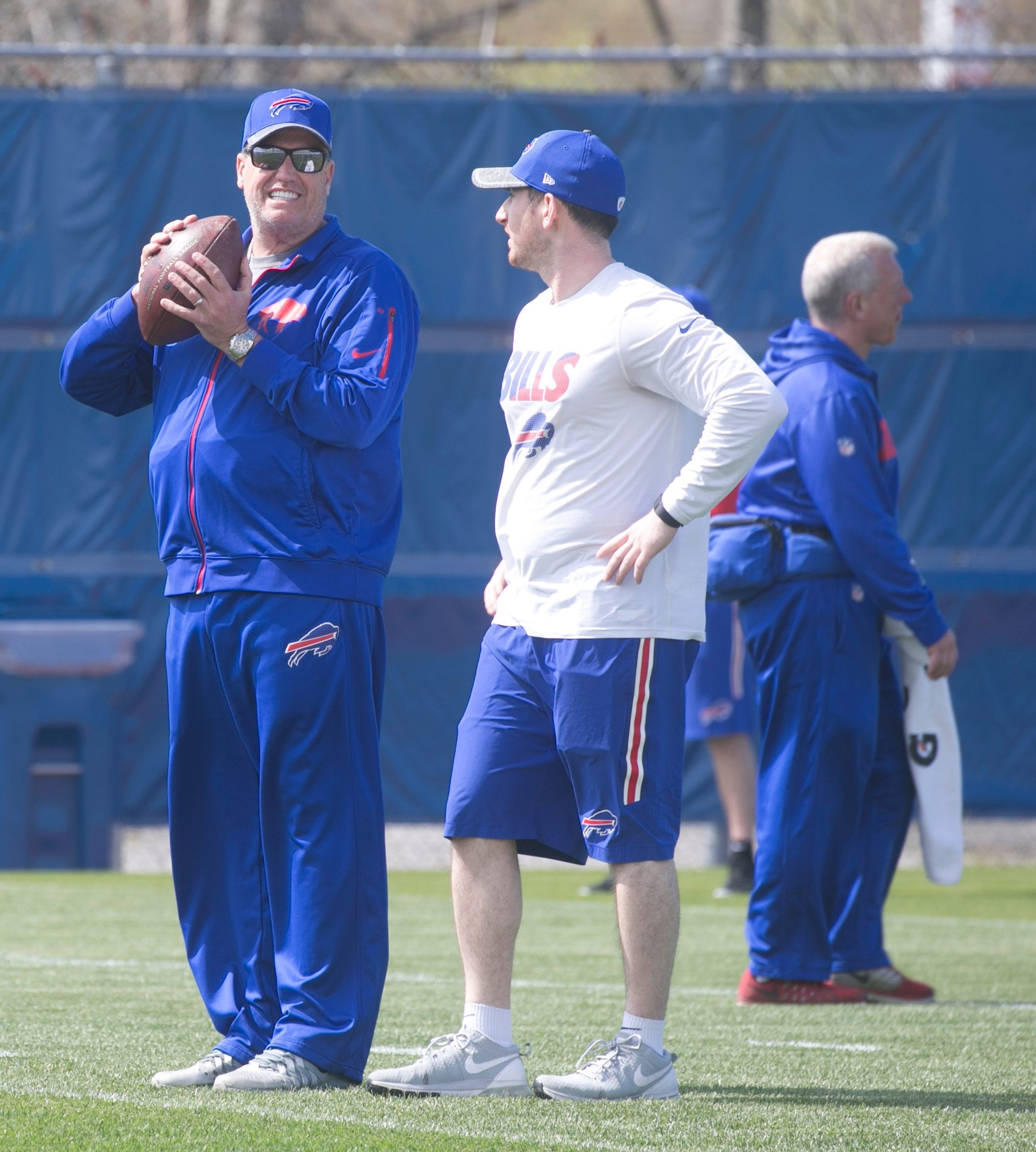 Buffalo Bills Head Coach Rex Ryan at Bills rookie camp at the grass practice field, in Orchard Park, N.Y., on Friday May 6, 2016. (John Hickey/Buffalo News)