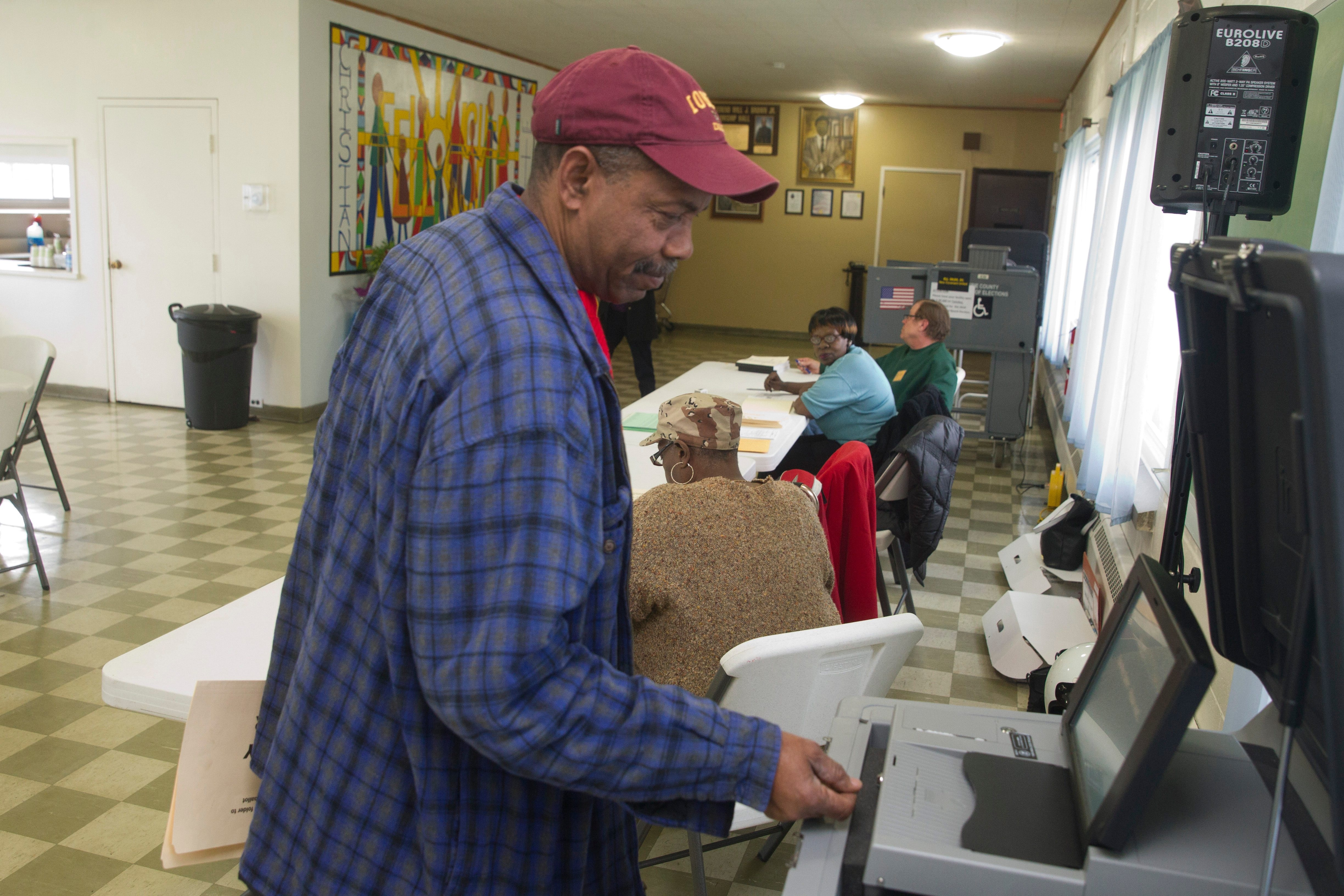 Ellis Woods, 66, said he voted for Paulette Woods – no relation – because he was concerned about the direction of the School Board. (John Hickey/Buffalo News)