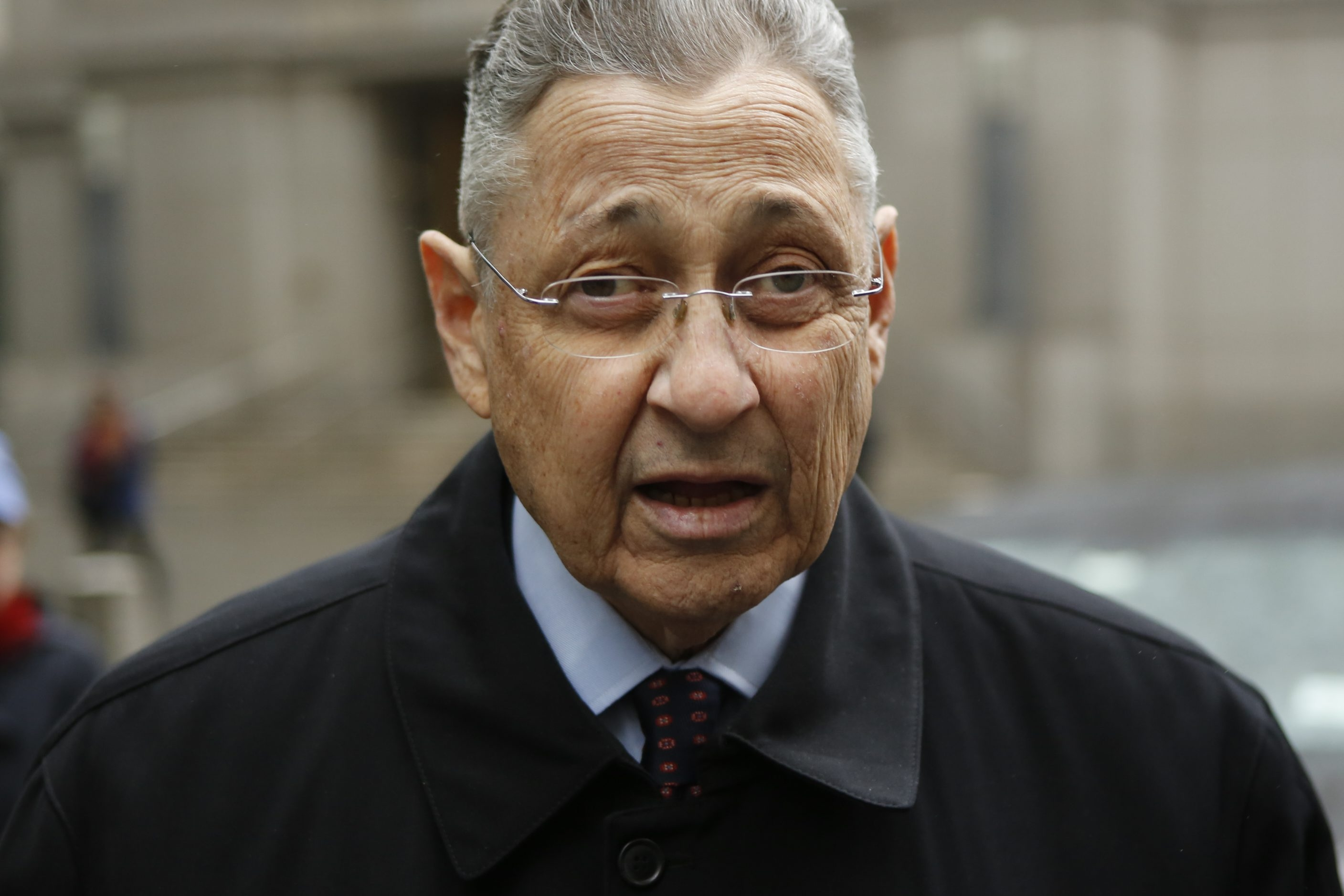 Former New York Assembly Speaker Sheldon Silver arrives at federal court in Lower Manhattan on May 3, 2016, in New York City.  (Getty Images)