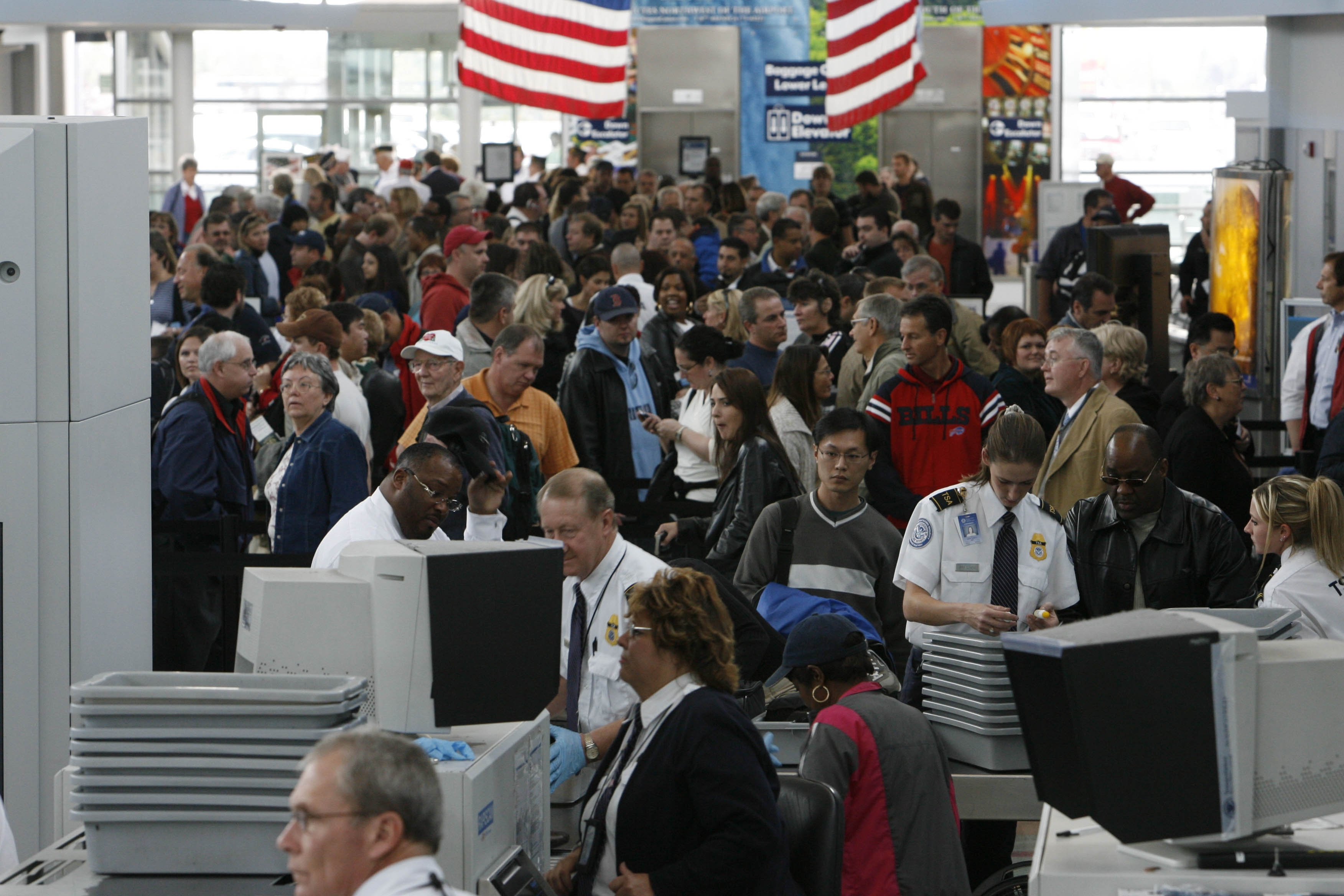 """Looking ahead to summer departures from Buffalo Niagara International Airport, travelers """"can expect to see a checkpoint line that can be up to 20 minutes,"""" a TSA spokeswoman says, but an official sees a """"rough summer"""" due to tight staffing at larger sites."""