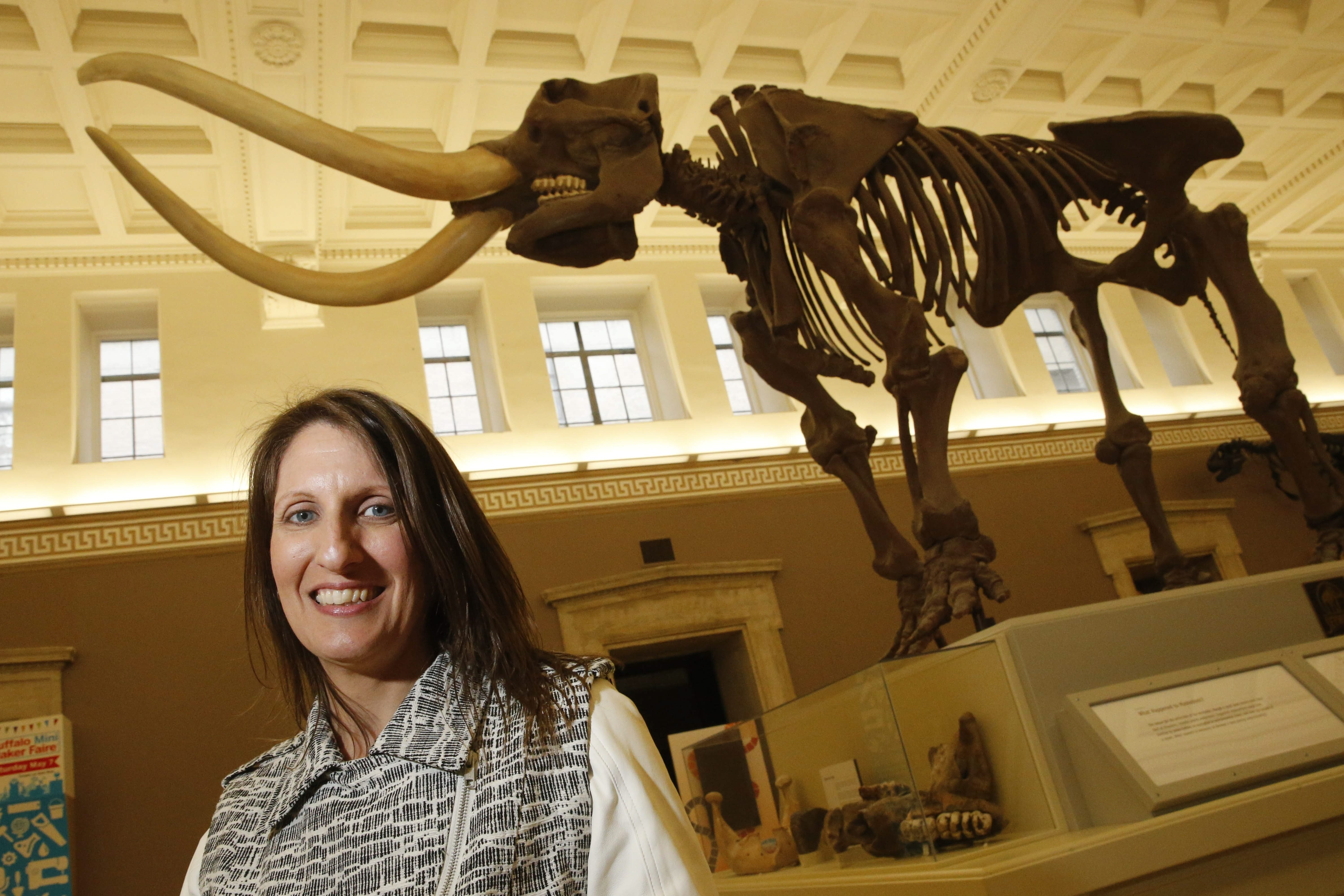 """Marisa Wigglesworth, new president and CEO of the Buffalo Museum of Science, was introduced at a news conference Monday. The job """"sits at the intersection of … issues highly meaningful to me,"""" she said, citing importance of science, technology, engineering and math education."""