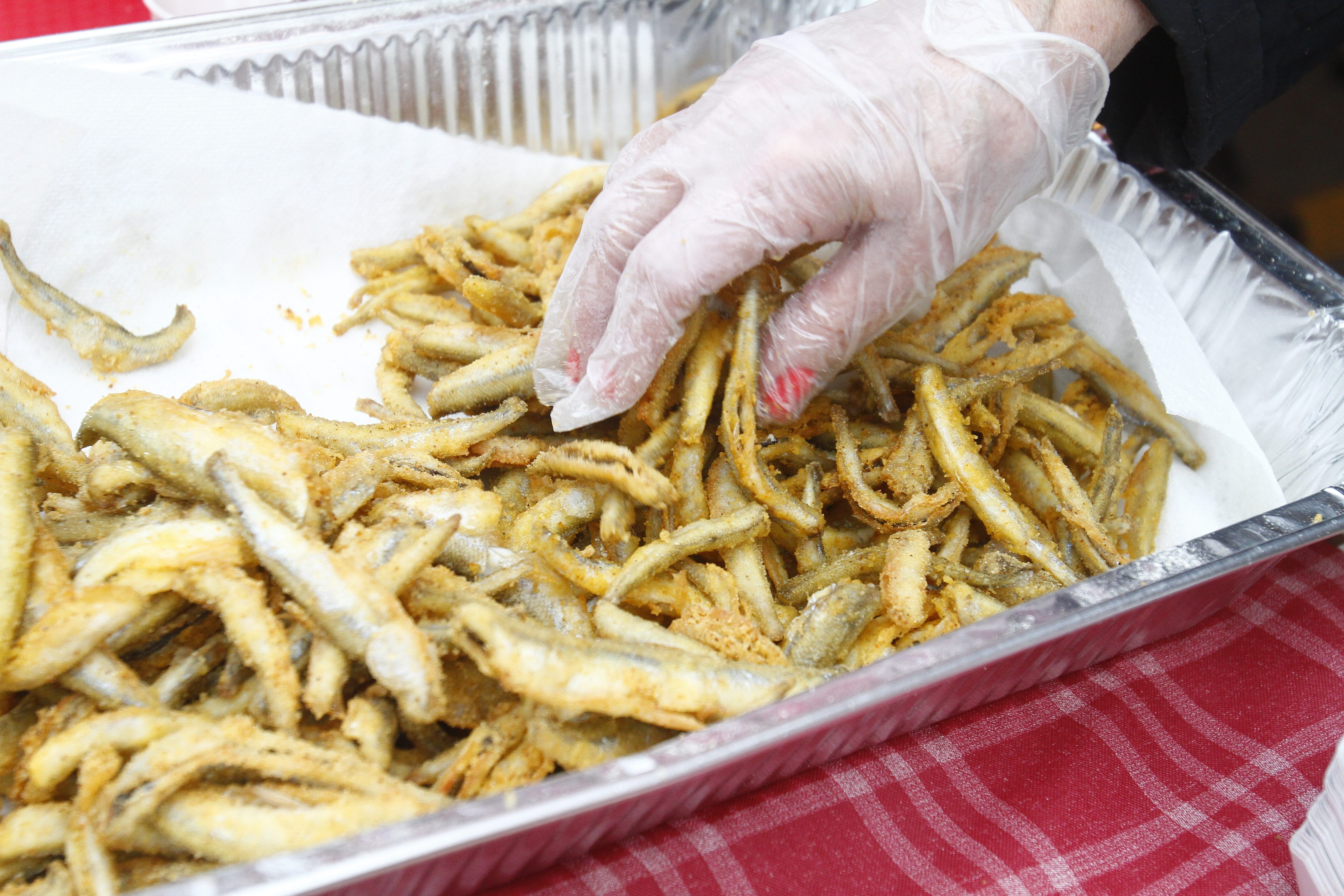 About 400 pounds of fried smelt will be available Friday evening on the waterfront in the Village of Lewiston.