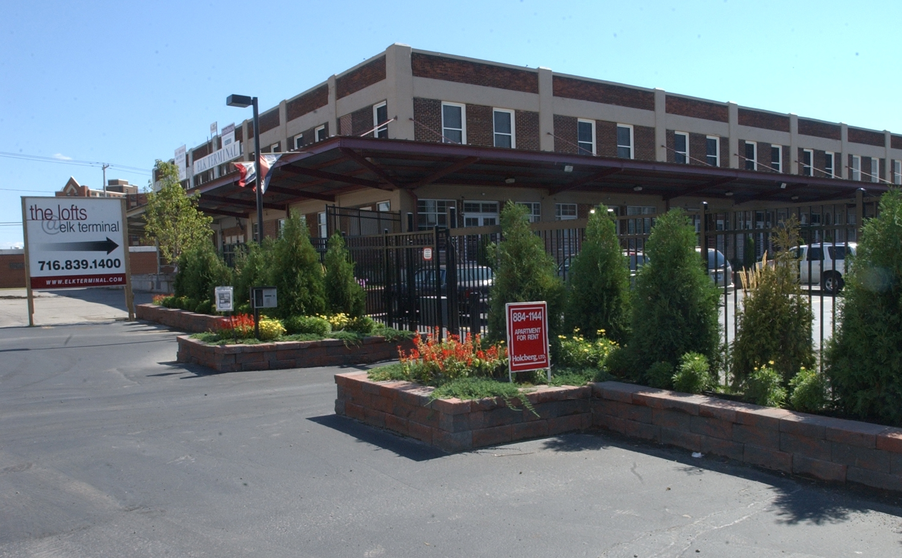 Entrance to the Lofts @ Elk Terminal.