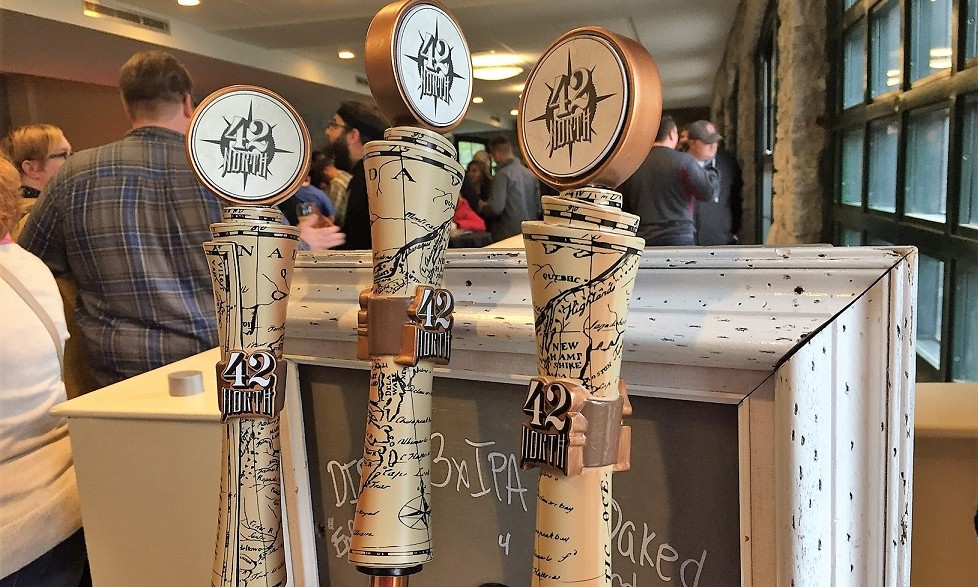 Taps at 42 North, which will start selling its beer in cans. (Kevin Wise/Special to The News)