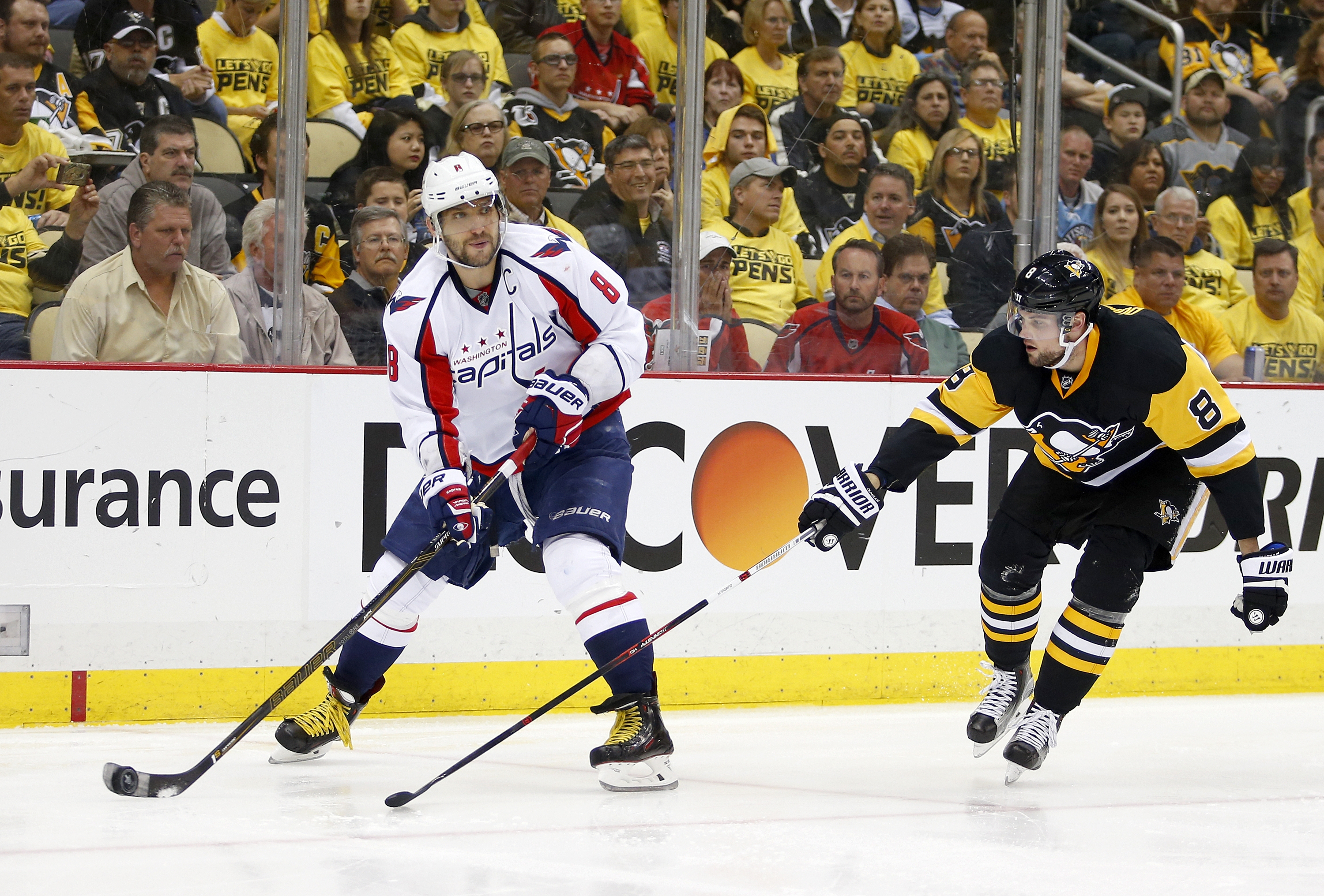 Alex Ovechkin usually isn't afraid to take a shot, but he seemed hesitant to do so in Game Three.