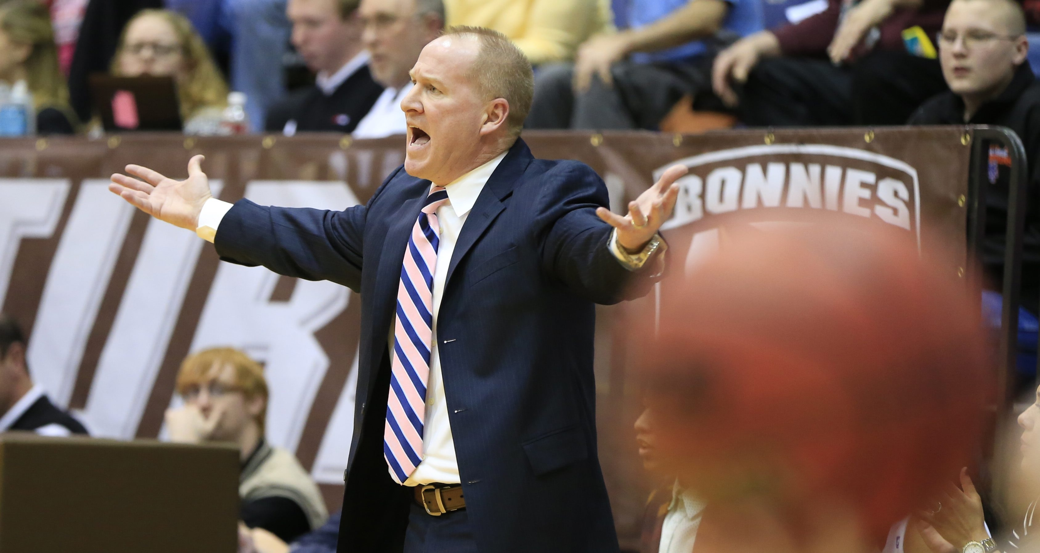 St. Bonaventure coach Jim Crowley helped bring up the quality of Big 4 women's basketball.
