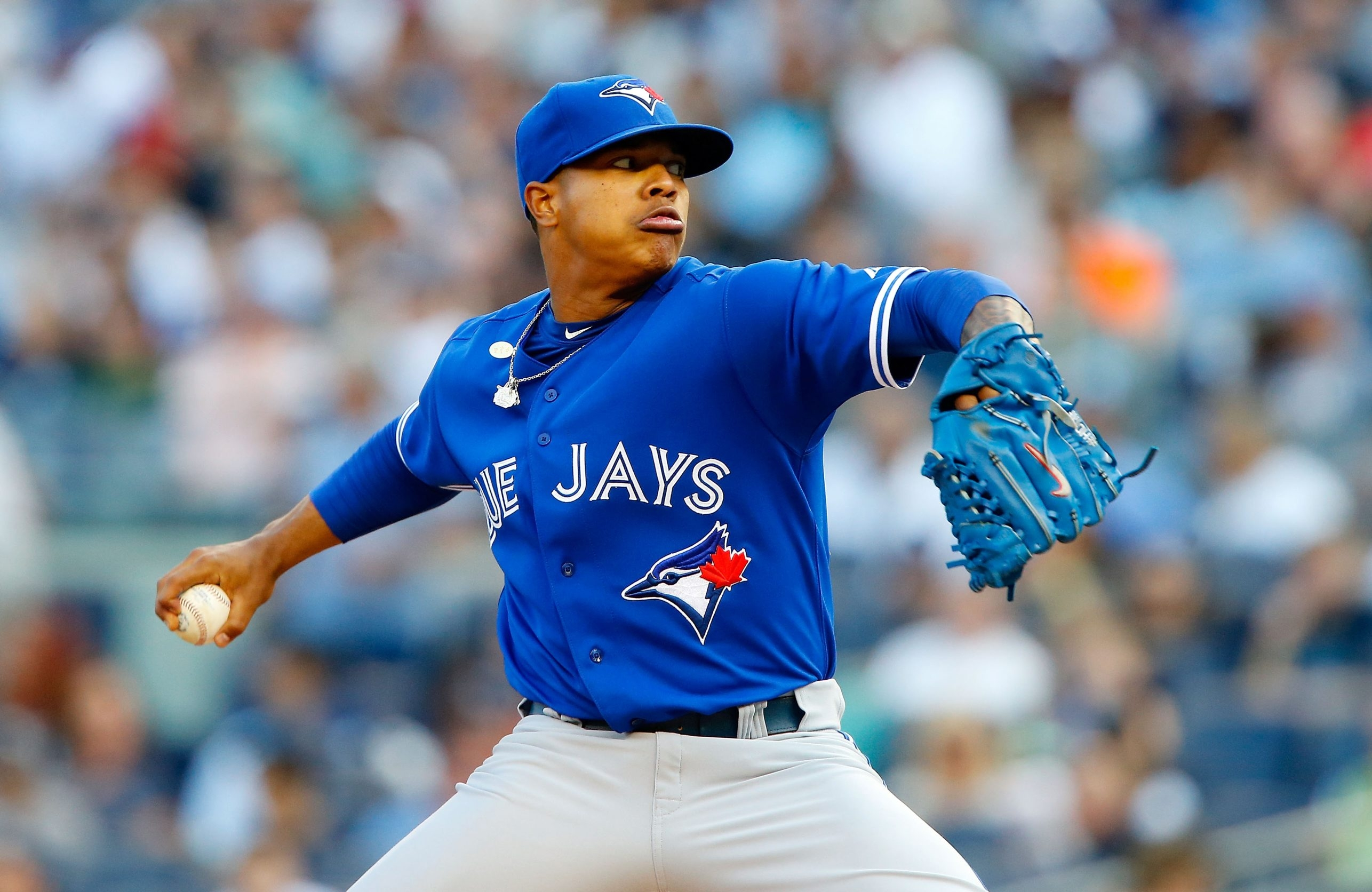 The Blue Jays are reliant on starting pitcher Marcus Stroman despite his inexperience. (Getty Images)