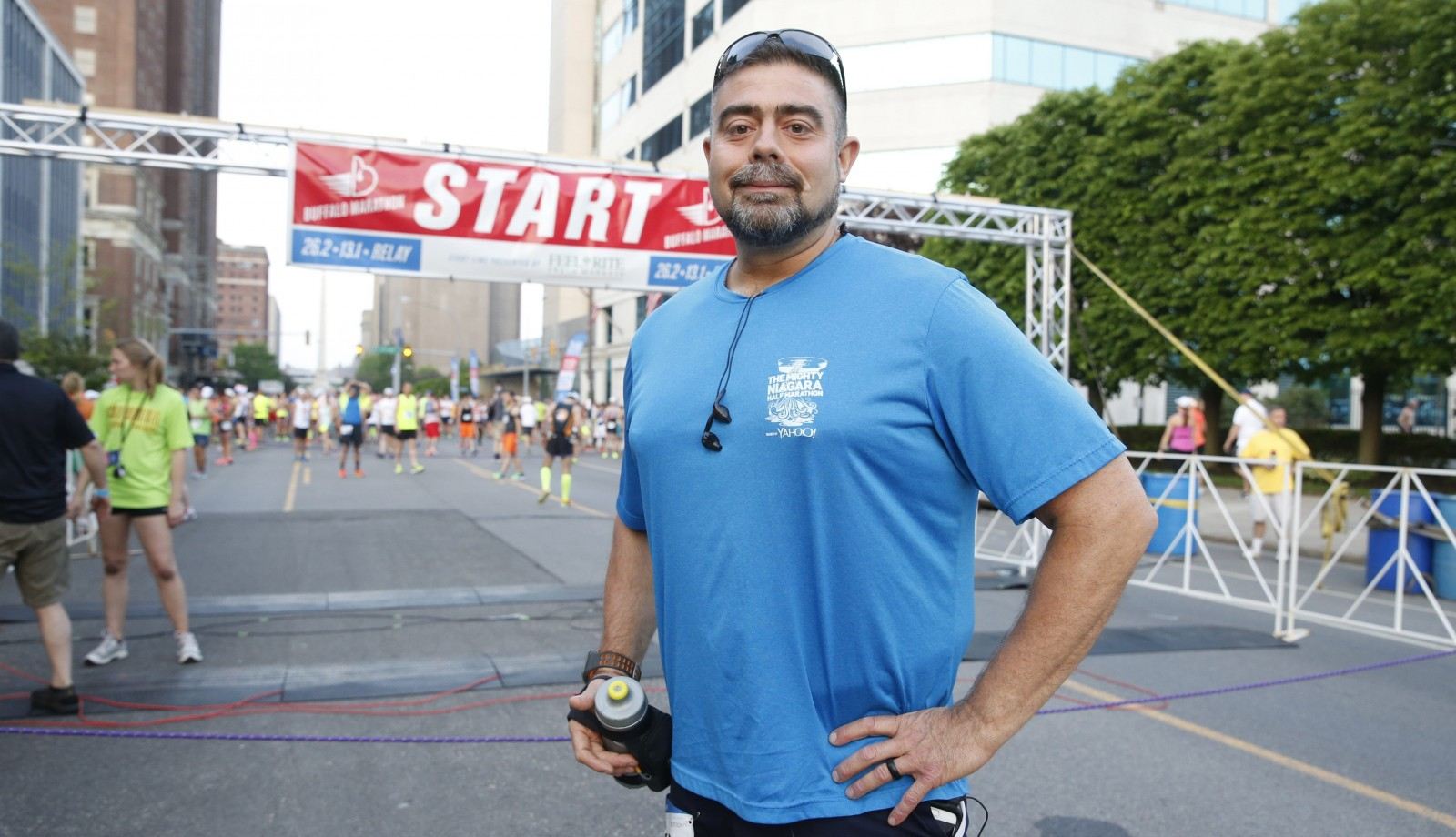 Tim Kaufman, who weighed 400 pounds four years ago and was addicted to painkillers, completed his first Buffalo Marathon on Sunday.