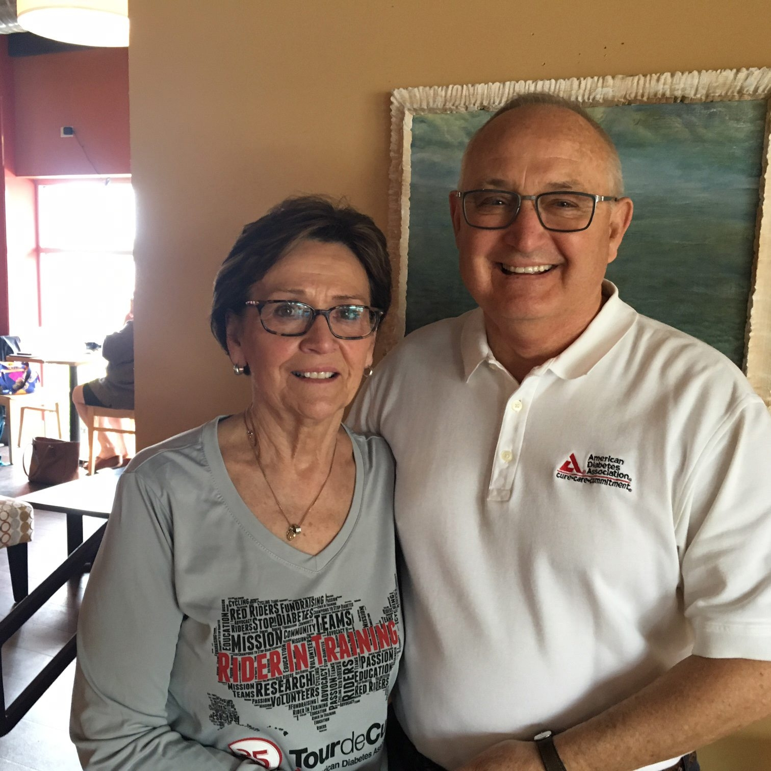 Janice and Jim Horbowicz of Clarence have volunteered during all 25 Tour de Cure bike rides.
