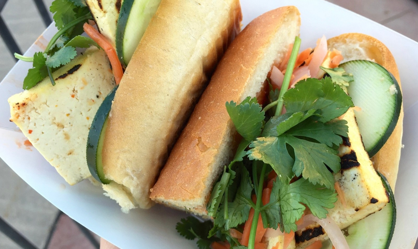 The Vietnamese banh mi from The Black Market Food Truck. (Alex Mikol/Special to The News)