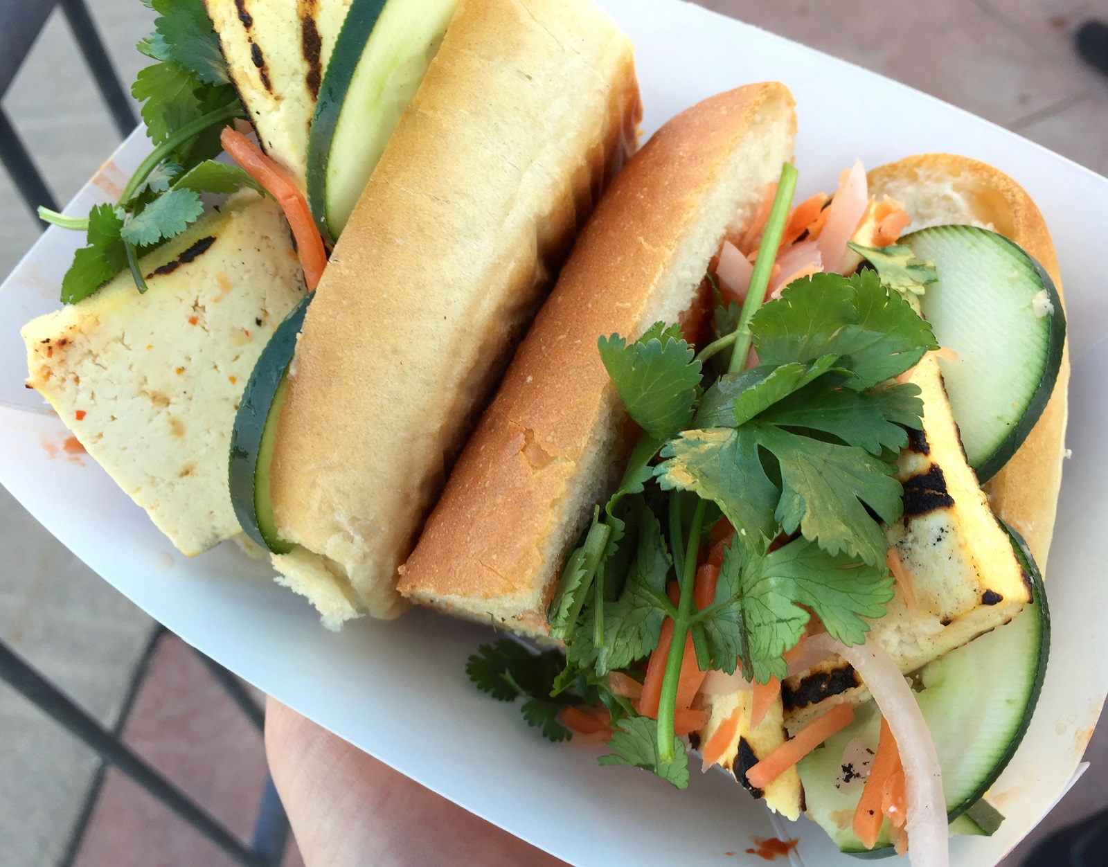 Vietnamese banh mi with tofu from The Black Market Food Truck, $9. (Alex Mikol/Special to The News)