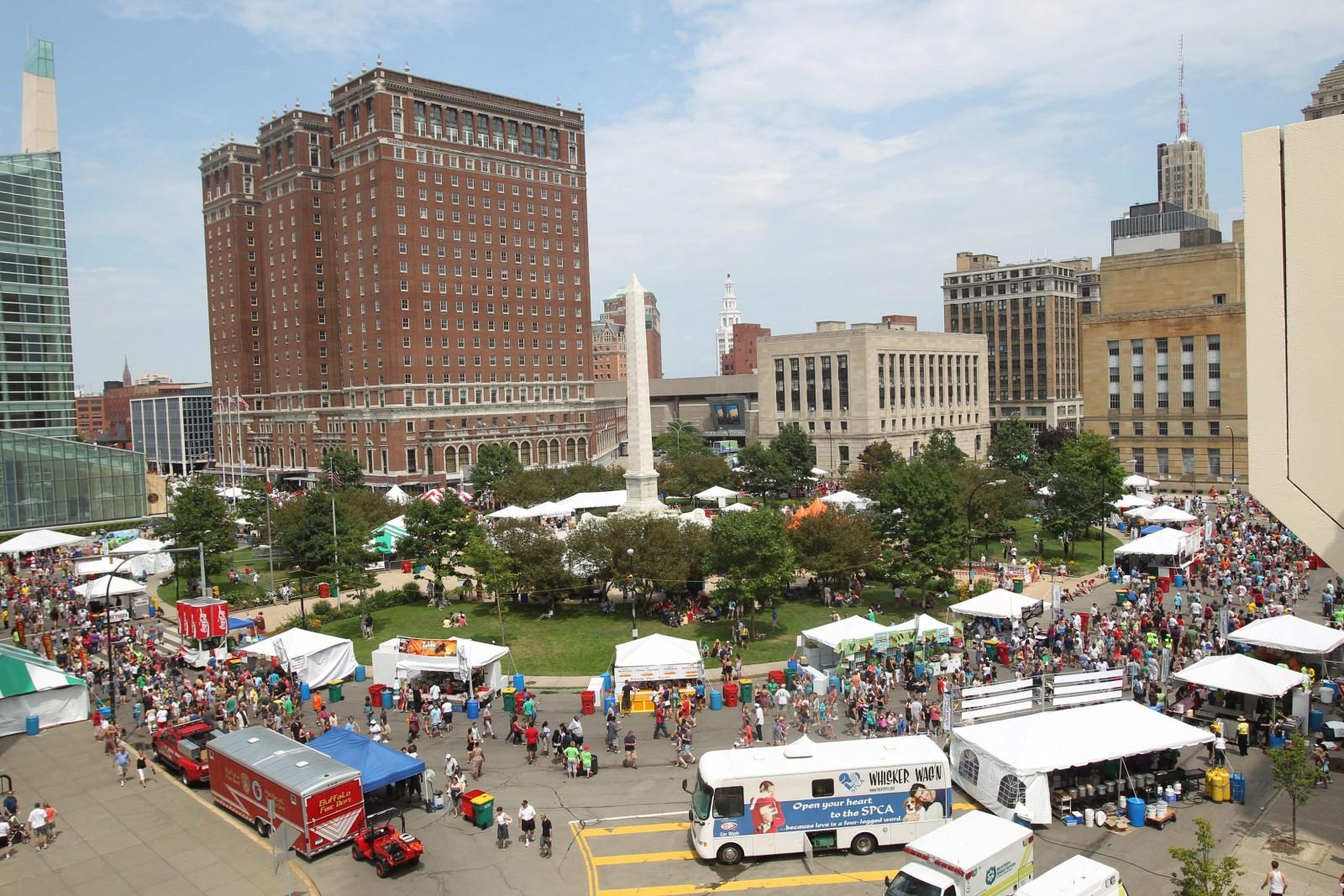 The 2012 Taste of Buffalo fills Niagara Square. (Sharon Cantillon/News file photo)