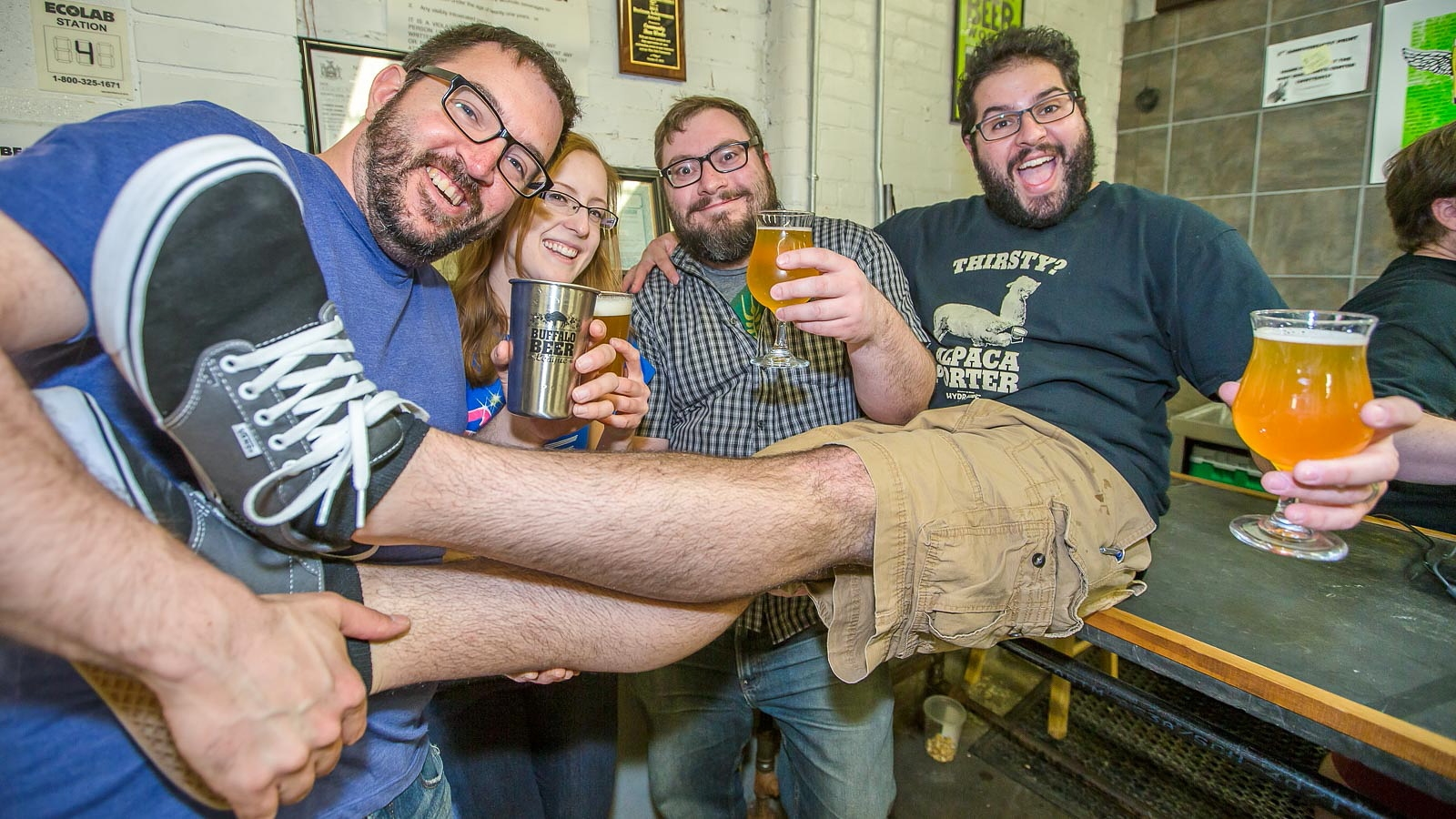 Smiles and beer were abundant at Community Beer Works' fourth anniversary party in April. (Don Nieman/Special to The News)